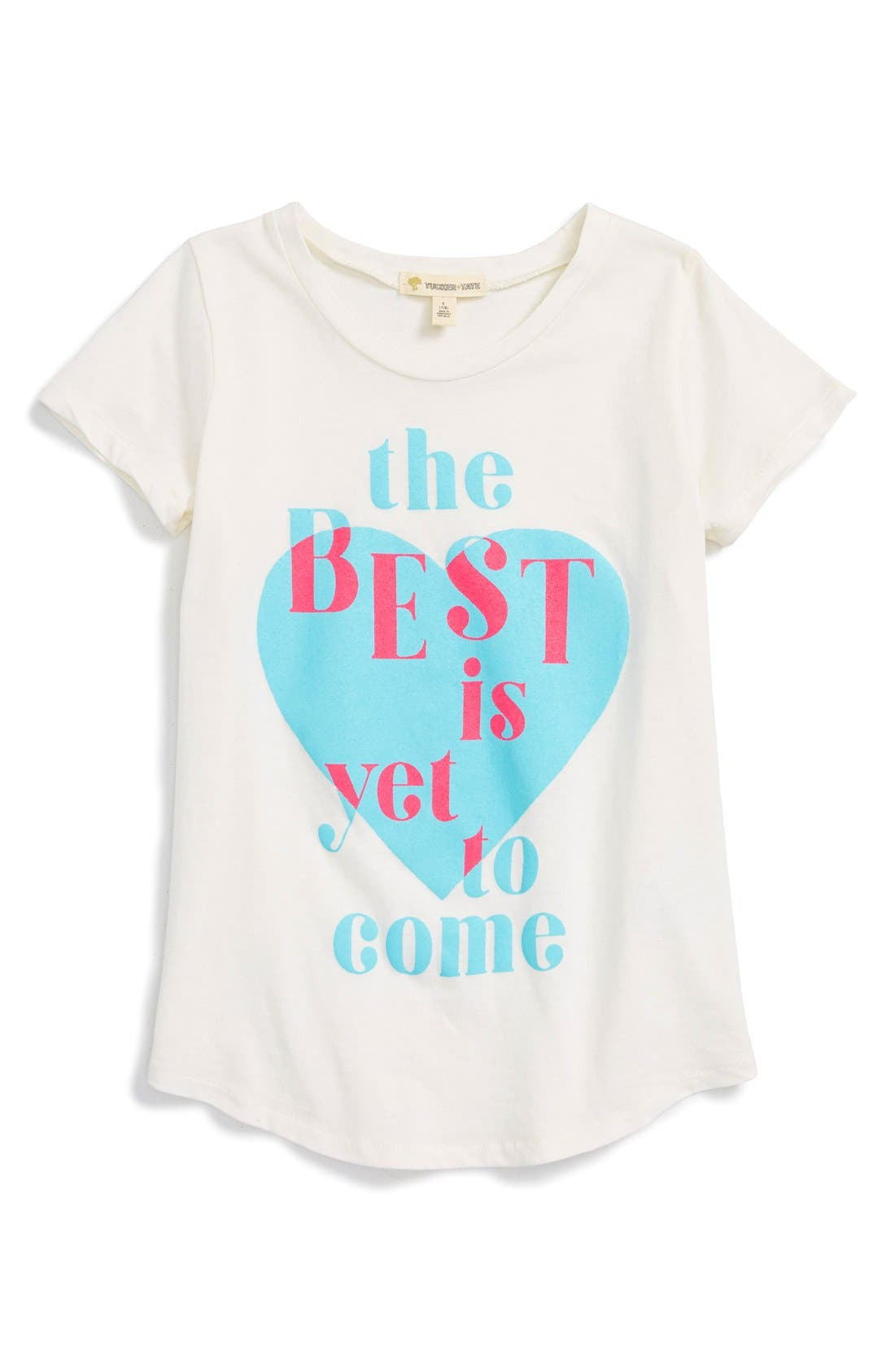 Alternate Image 1 Selected - Tucker + Tate 'The Best Is Yet To Come' Graphic Tee (Big Girls)