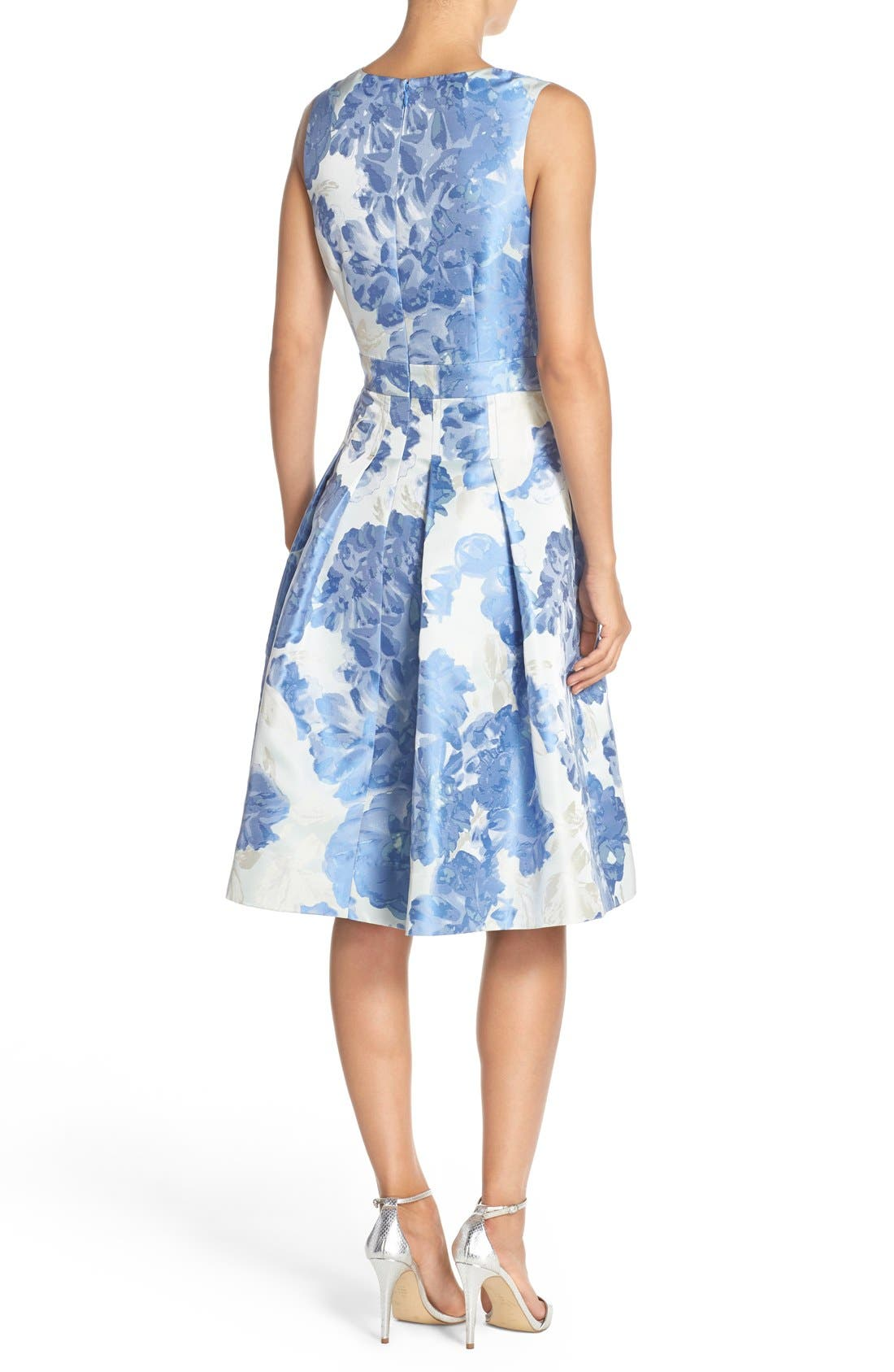 Alternate Image 3  - Eliza J Floral Jacquard Fit & Flare Dress