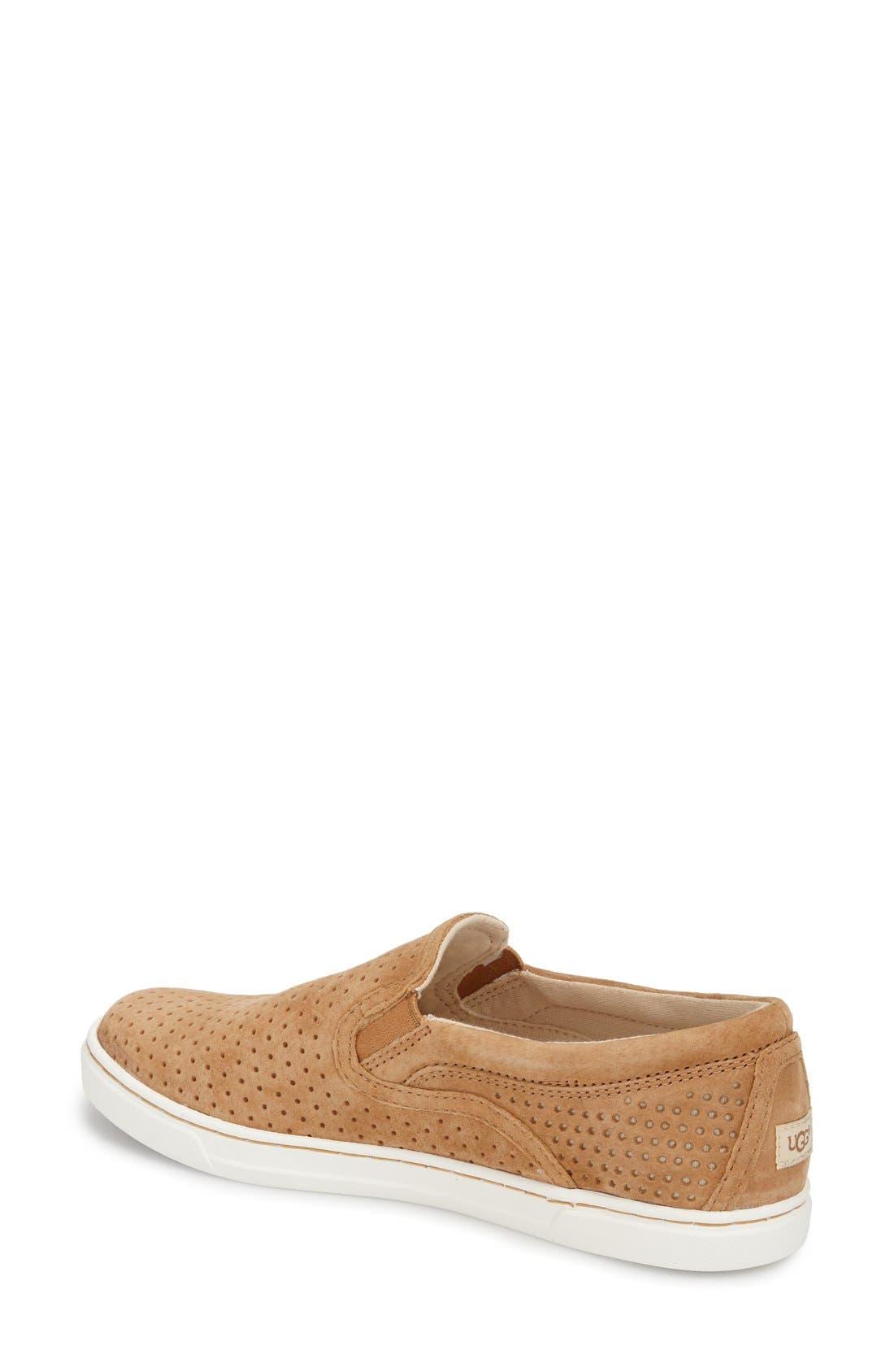 Alternate Image 2  - UGG® 'Fierce Geo' Perforated Slip-On Sneaker (Women)