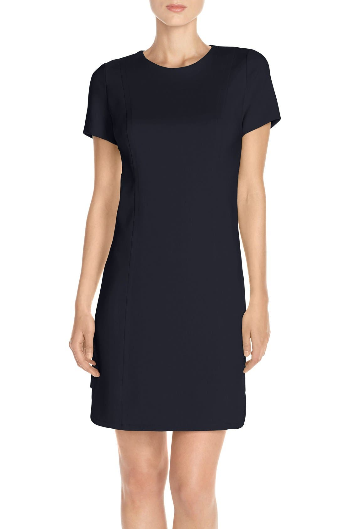 Alternate Image 1 Selected - Vince Camuto Seamed Shift Dress (Regular & Petite)