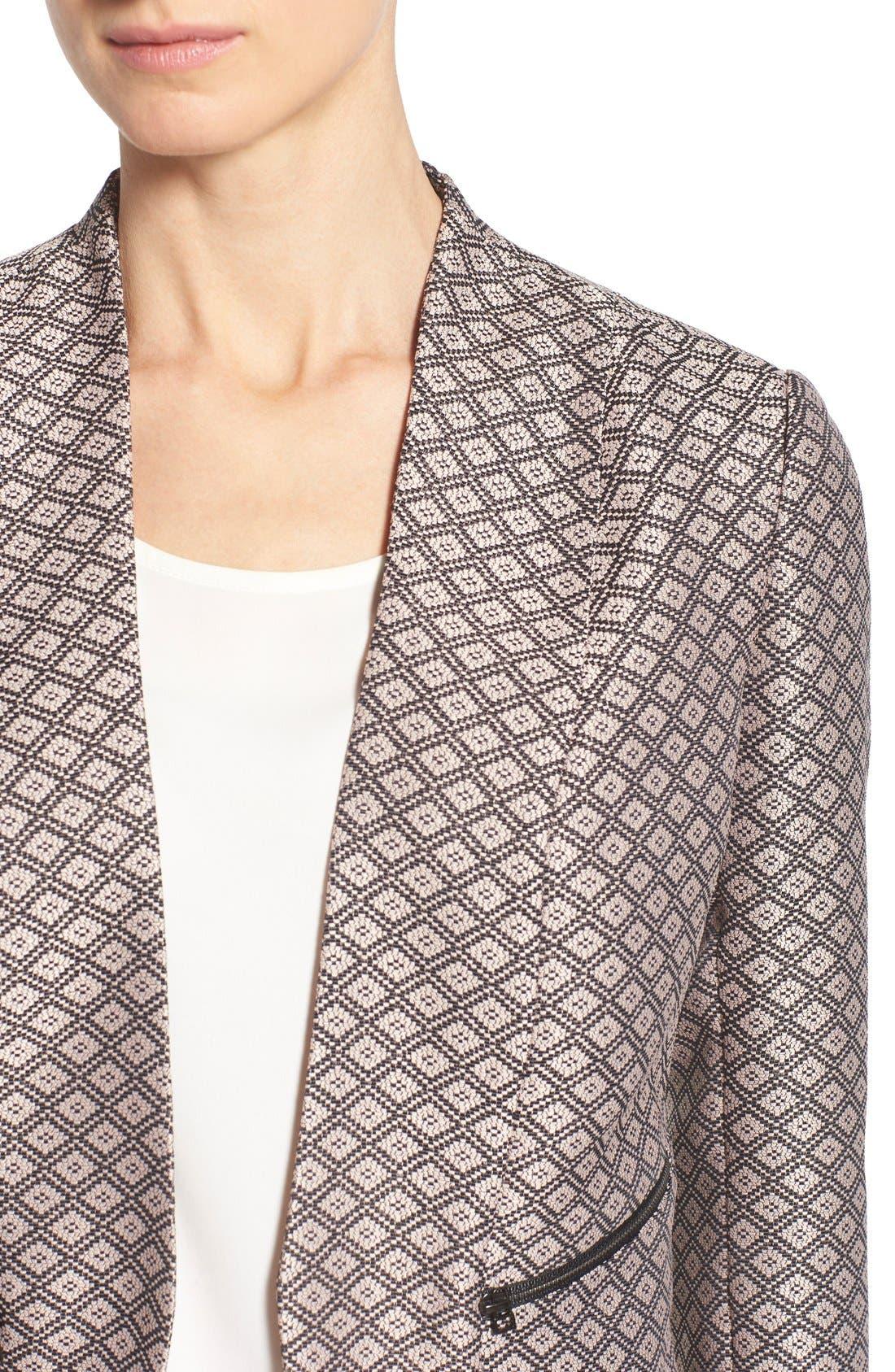 Alternate Image 4  - Halogen® Zip Pocket Open Jacket (Regular & Petite)