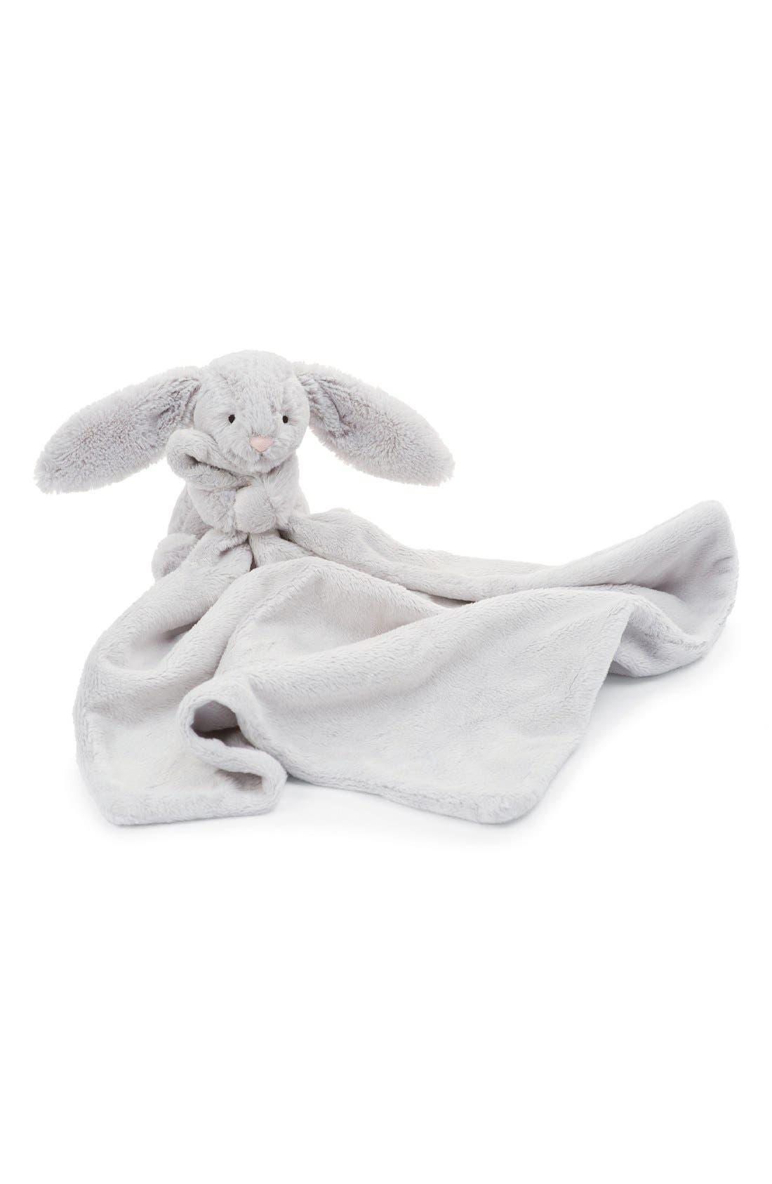 'Grey Bunny Soother' Blanket,                             Main thumbnail 1, color,                             Grey