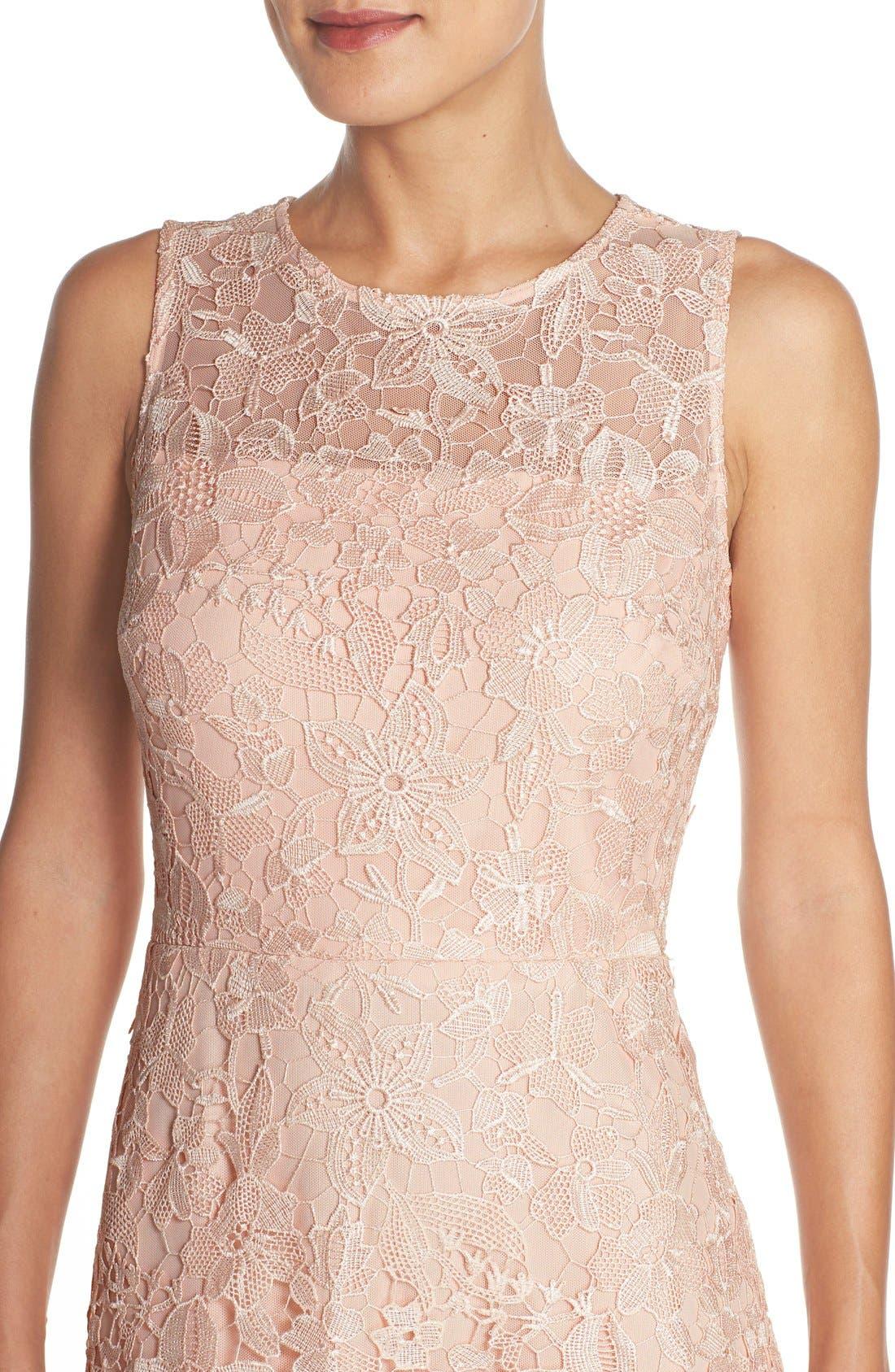 Alternate Image 4  - Julia Jordan Floral Lace A-Line Dress