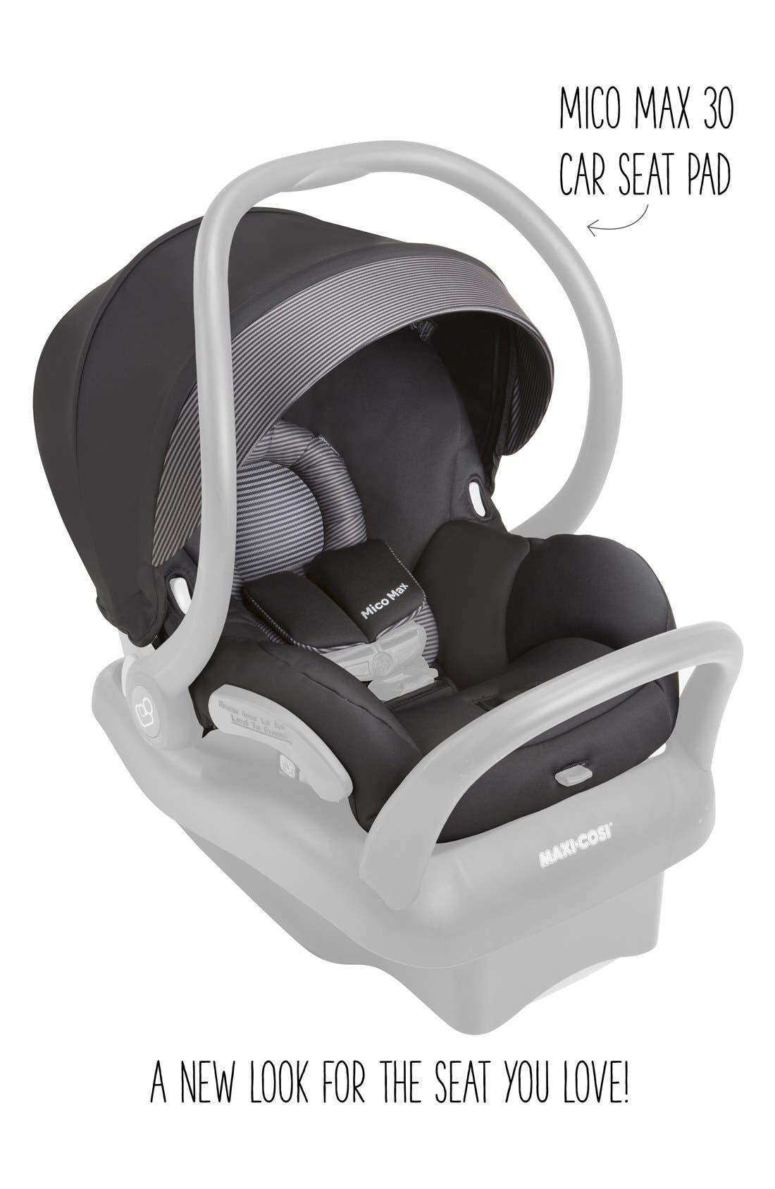 Seat Pad Fashion Kit for Mico Max 30 Car Seat,                             Alternate thumbnail 2, color,                             Devoted Black