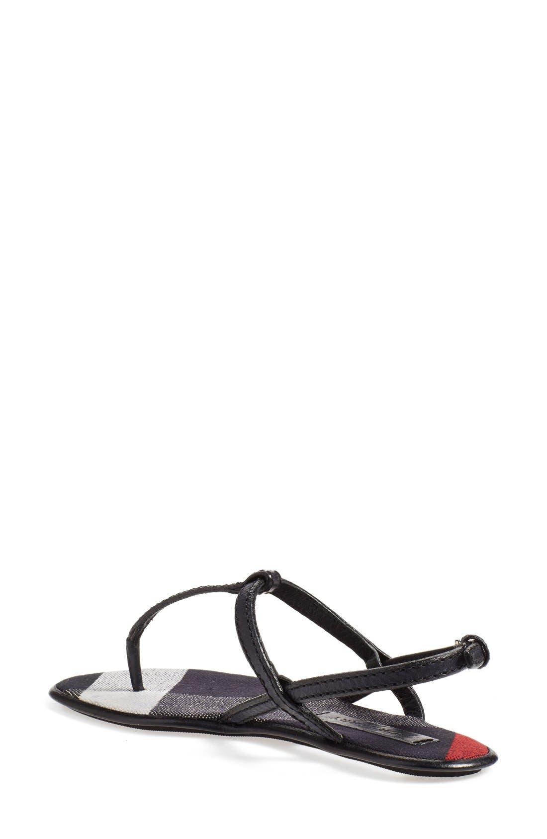 Alternate Image 2  - Burberry 'Ingeldew' T-Strap Sandal (Women)