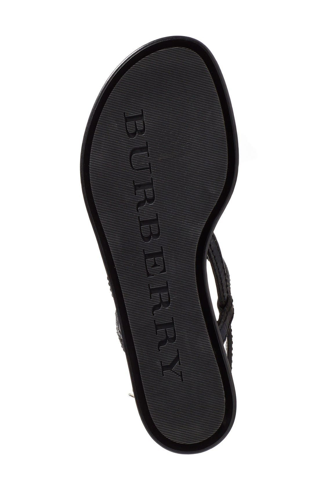 Alternate Image 4  - Burberry 'Ingeldew' T-Strap Sandal (Women)