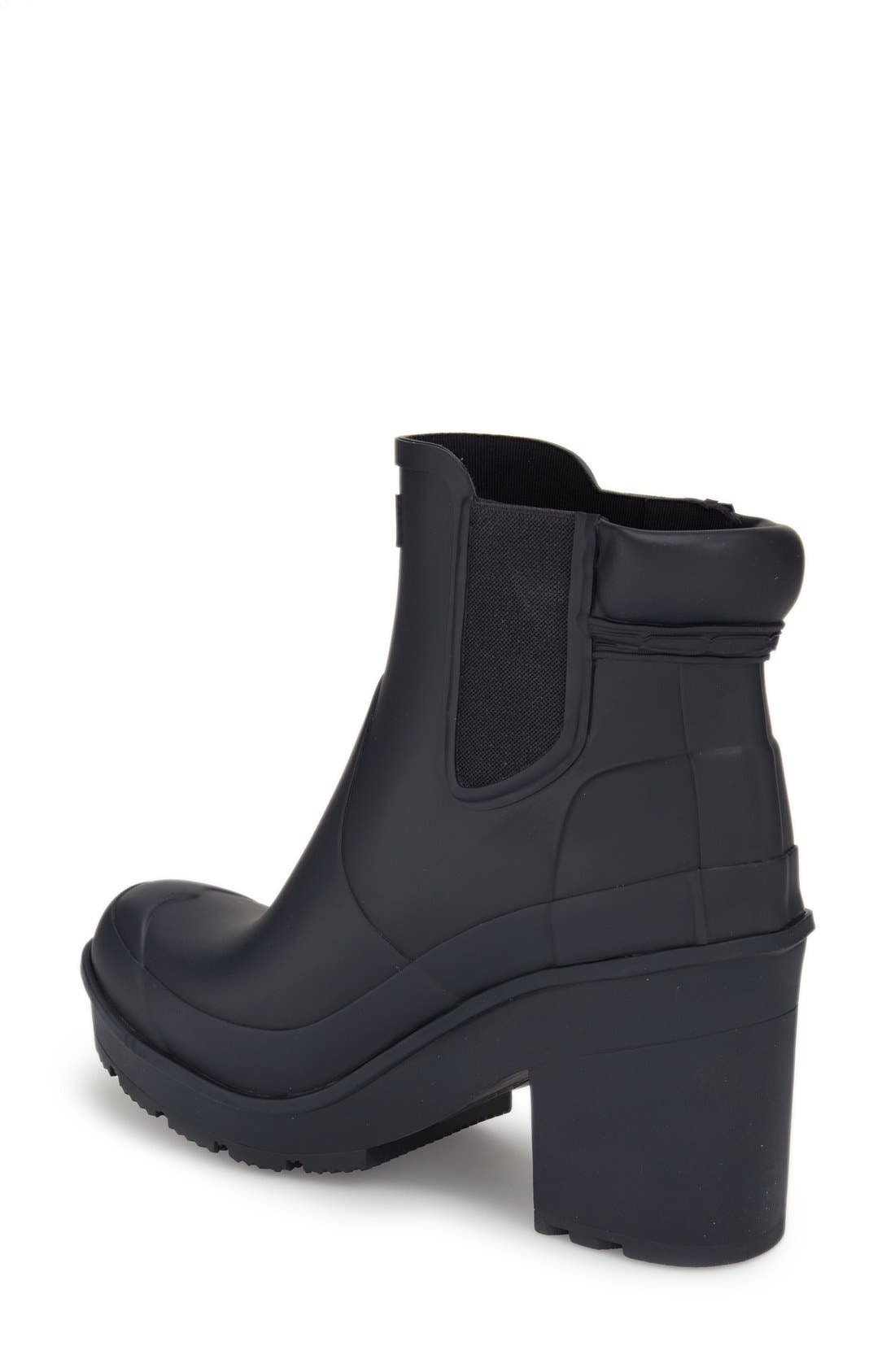 Alternate Image 2  - Hunter 'Original - Block Heel' Chelsea Rain Boot (Women)