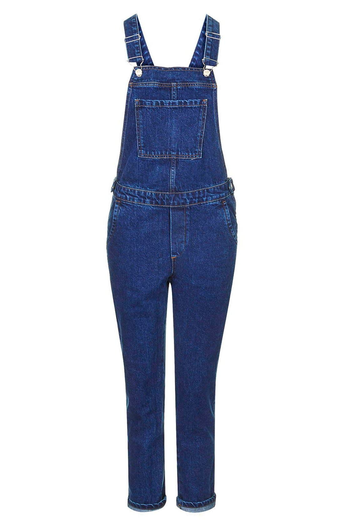 Alternate Image 3  - Topshop Denim Overalls (Mid Denim)