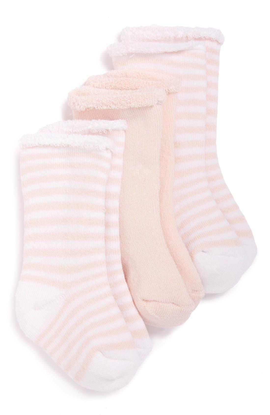 3-Pack Crew Socks,                         Main,                         color, Pink Baby Heather Pack