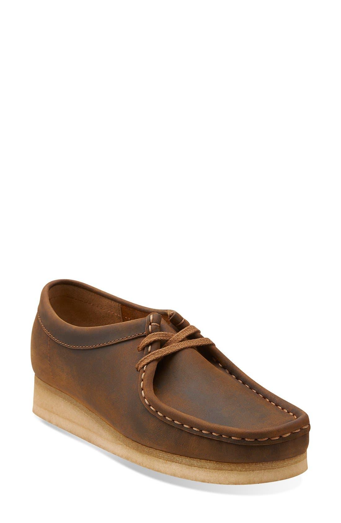 'Wallabee' Chukka Boot,                             Main thumbnail 1, color,                             Beeswax Leather