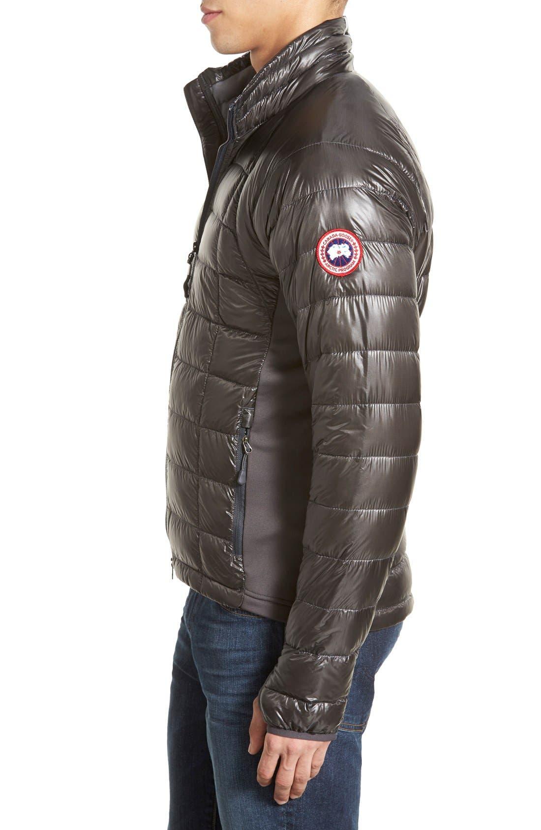 'Hybridge<sup>™</sup> Lite' Slim Fit Packable Jacket,                             Alternate thumbnail 3, color,                             Graphite