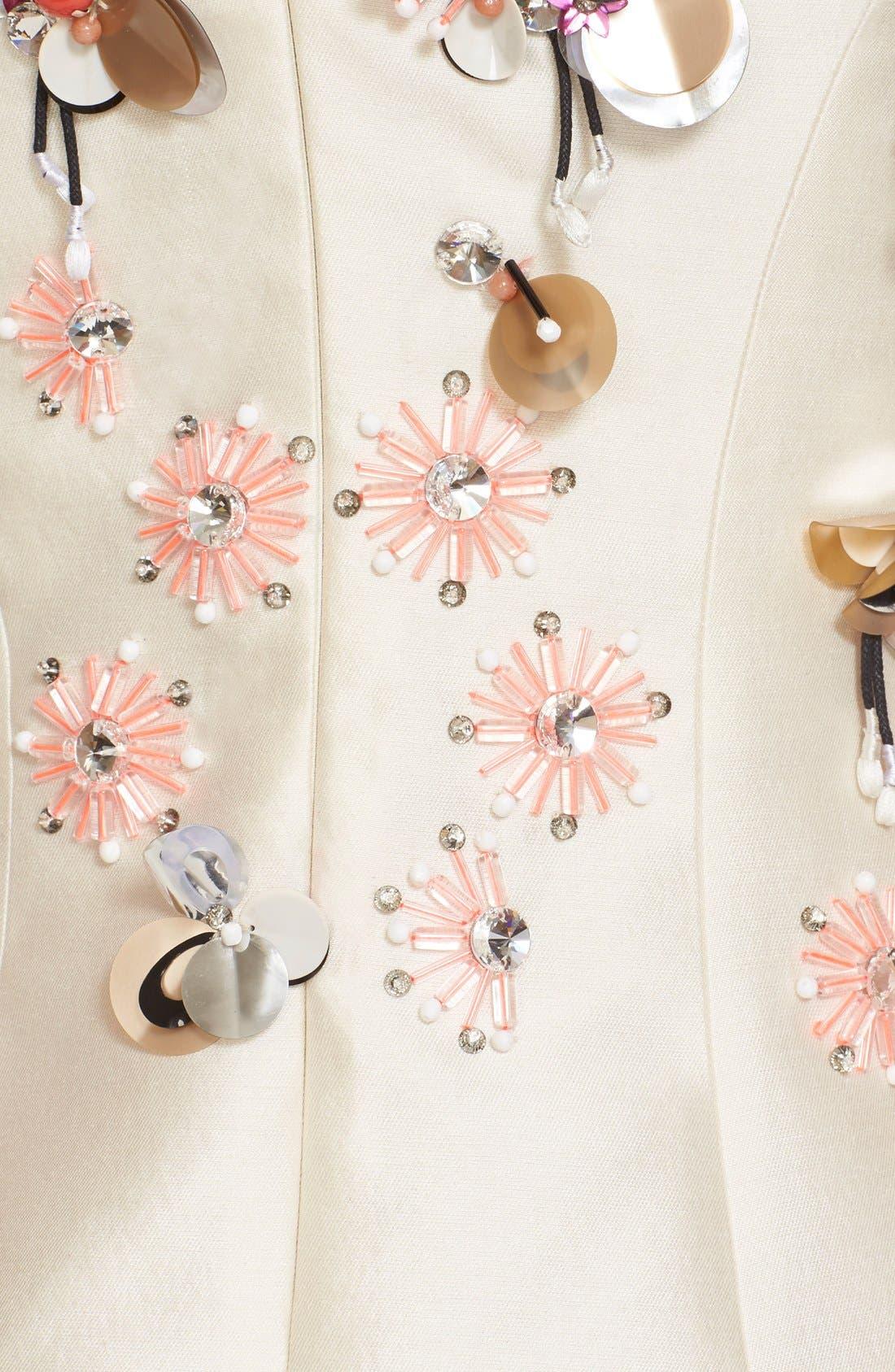 Alternate Image 3  - Lela Rose Embellished Wool & Silk A-Line Dress