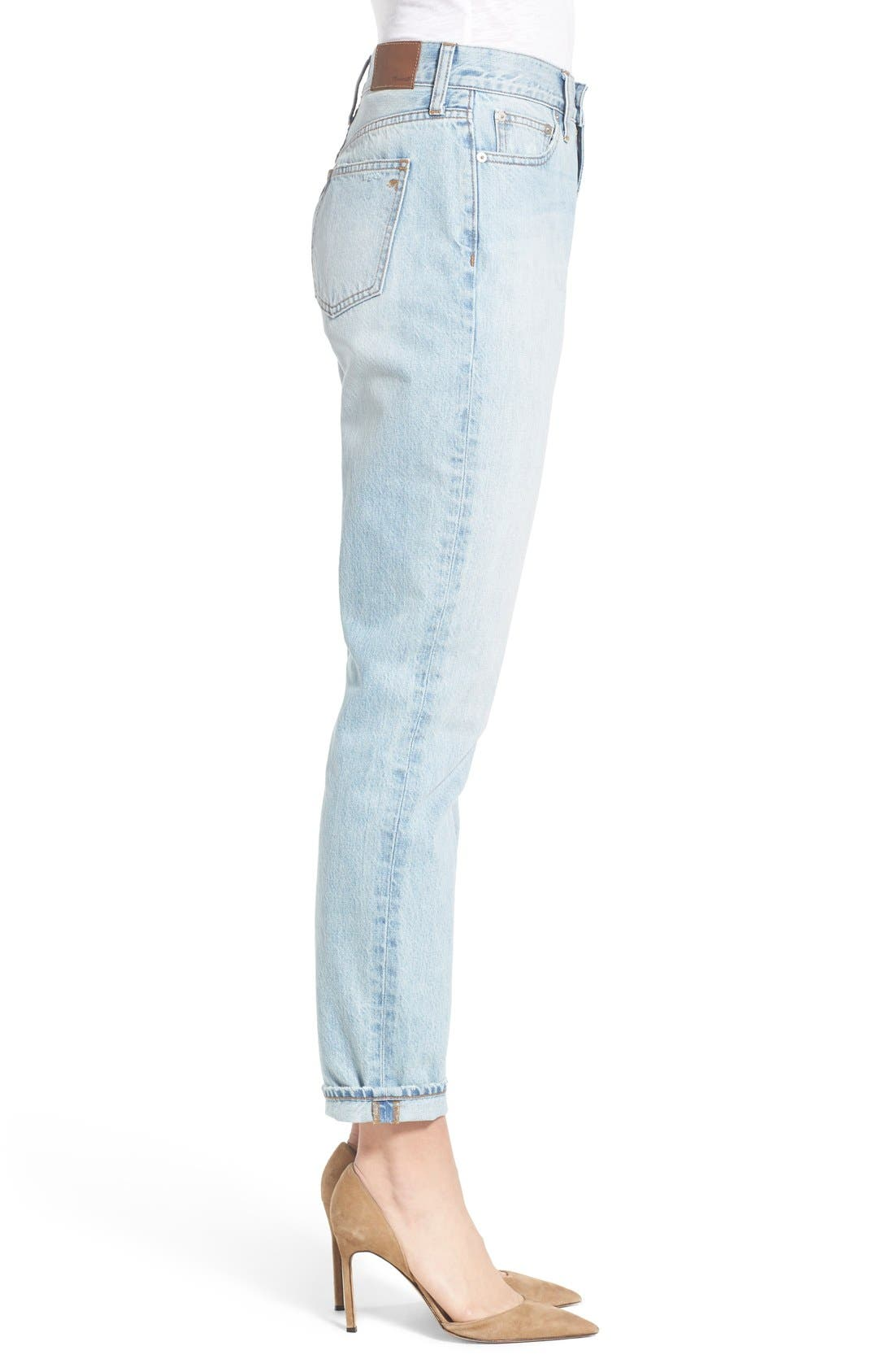 'Perfect Summer' High Rise Ankle Jeans,                             Alternate thumbnail 4, color,                             Fitzgerald Wash