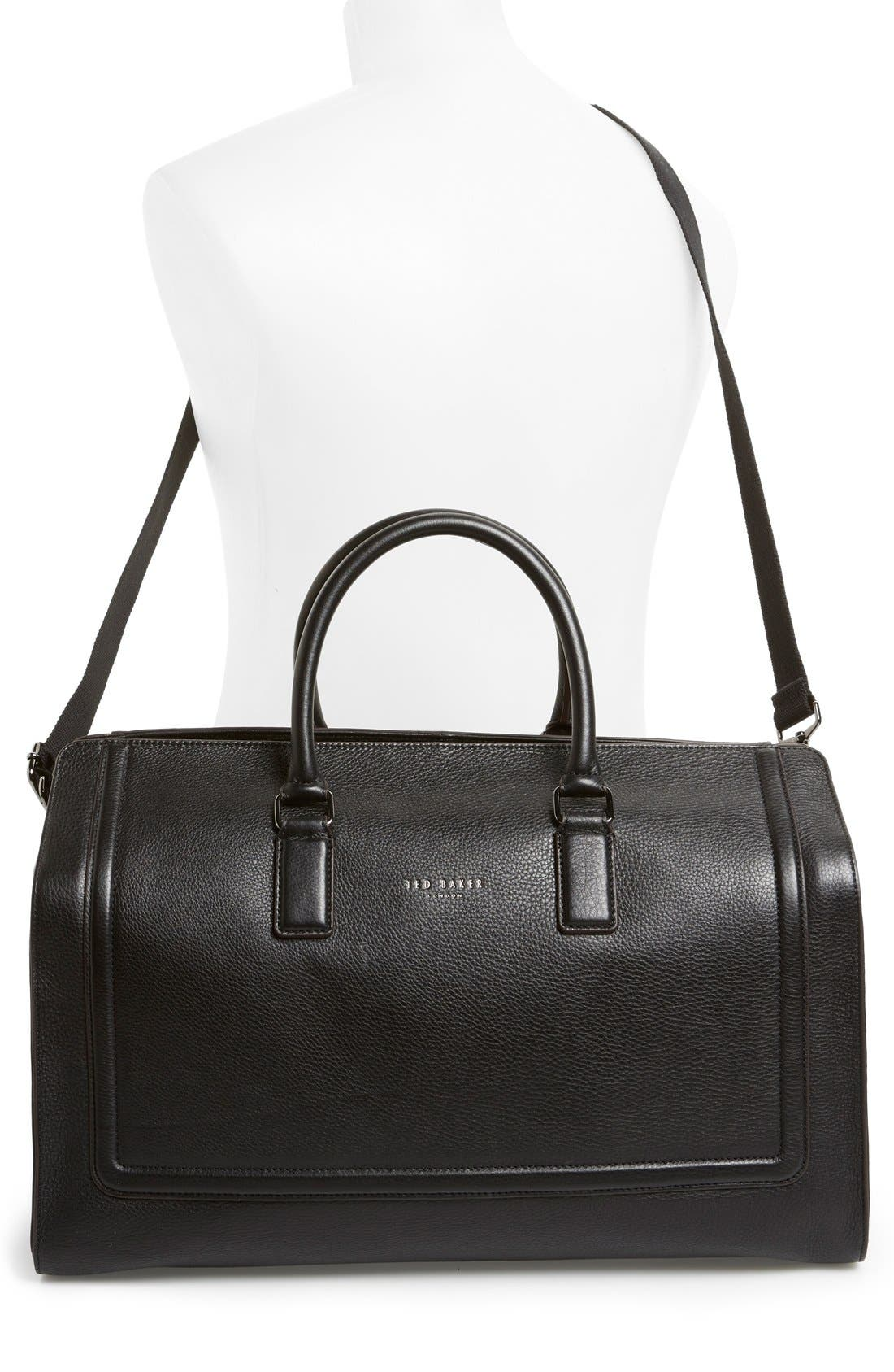 Alternate Image 5  - Ted Baker London 'Shalala' Leather Duffel Bag