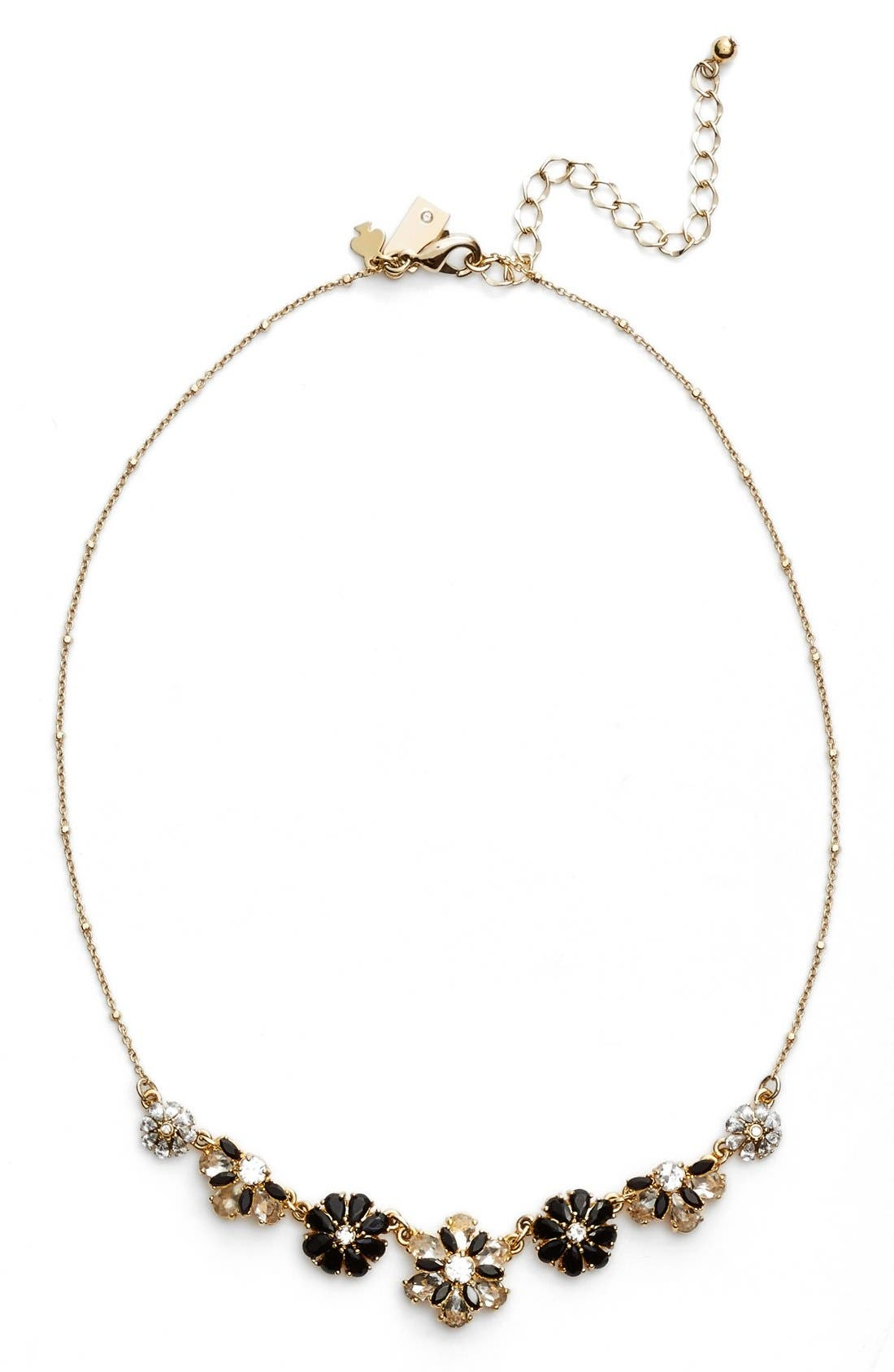 Main Image - kate spade new york 'shadow blossoms' mini necklace