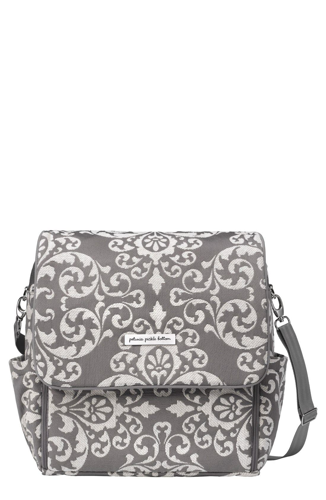 Main Image - Petunia Pickle Bottom 'Boxy' Chenille Convertible Diaper Backpack