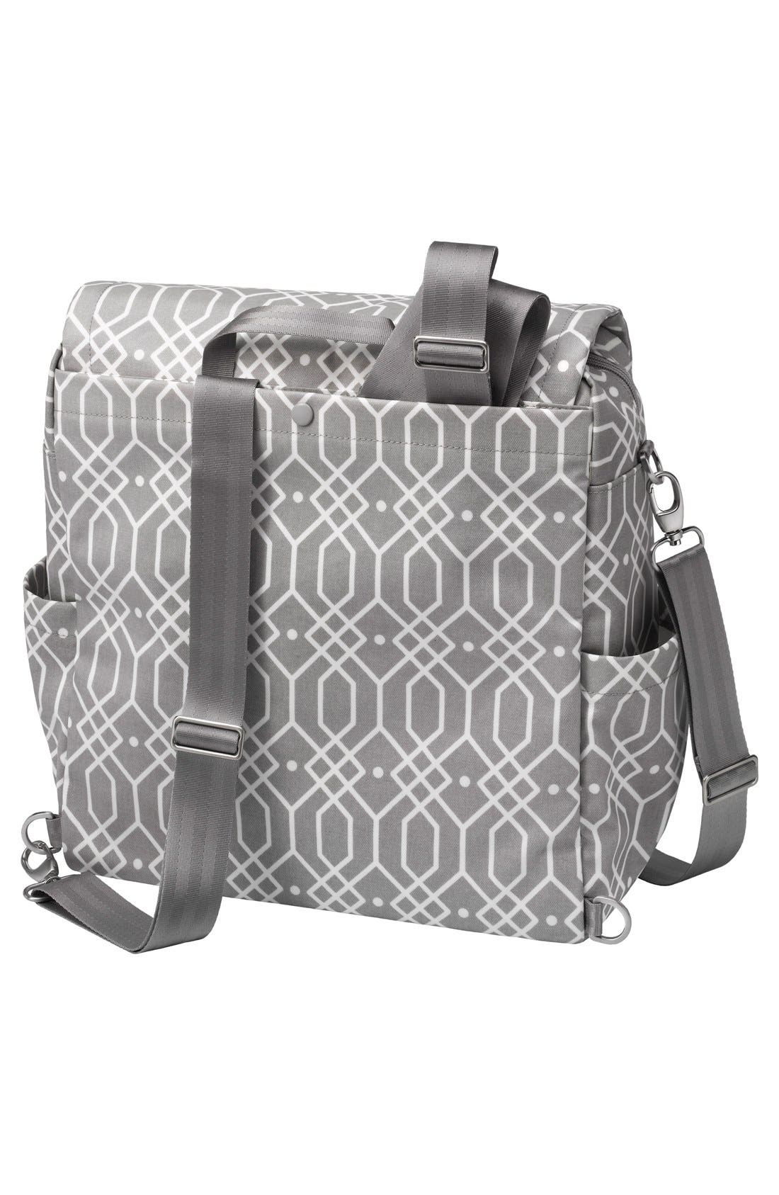 'Boxy Glazed' Diaper Bag,                             Alternate thumbnail 2, color,                             Quartz