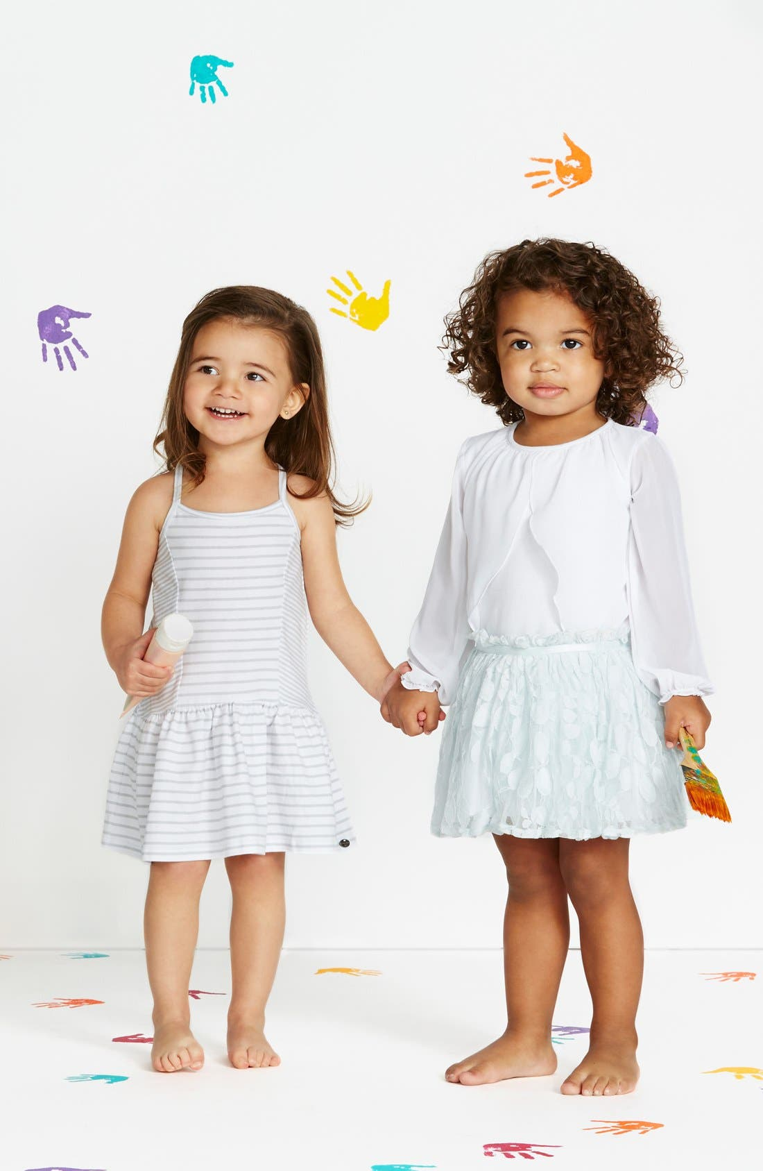 Stripe Sleeveless Dress,                             Alternate thumbnail 4, color,                             White/ Grey