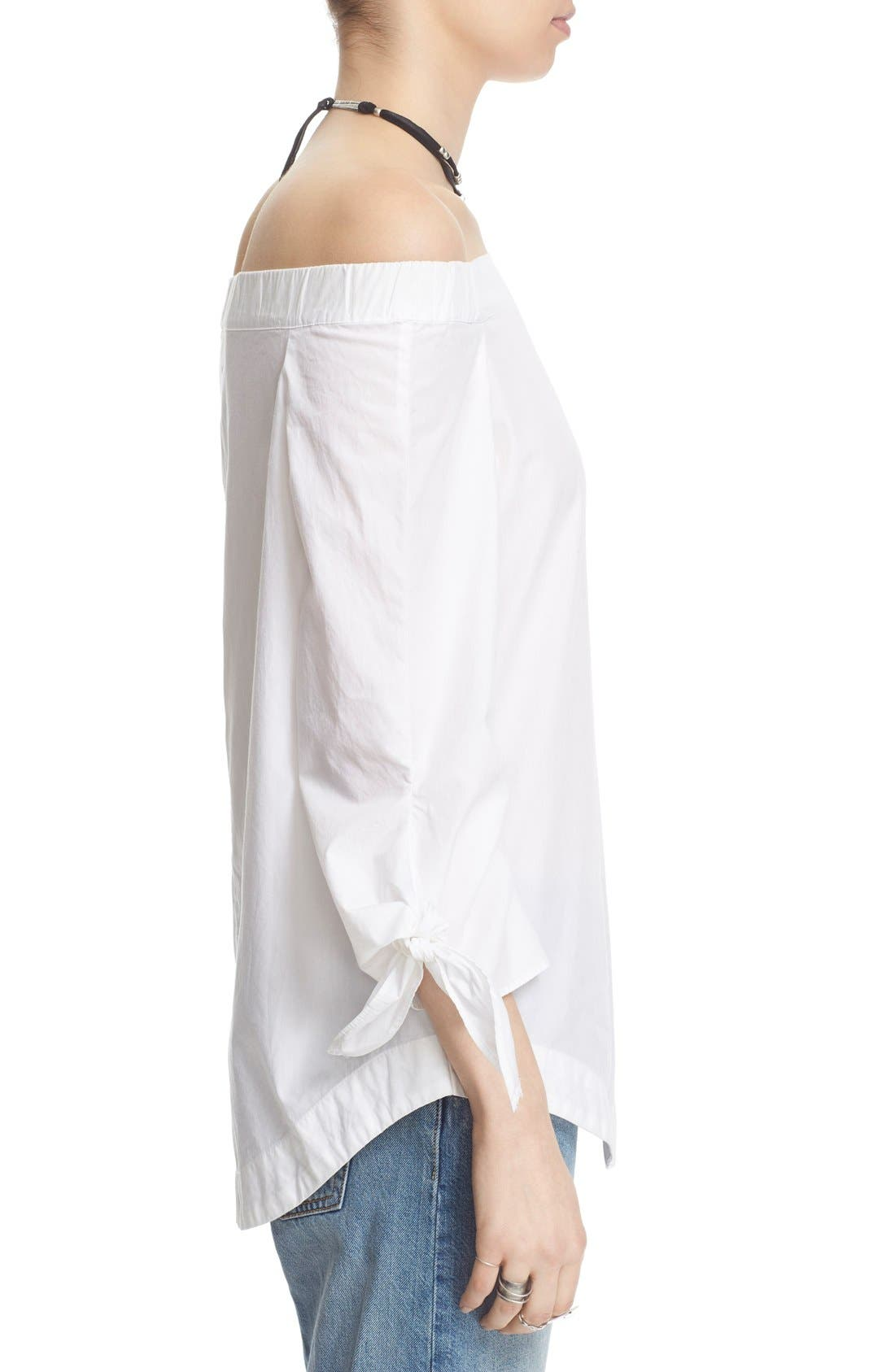 Alternate Image 3  - Free People 'Show Me Some Shoulder' Off the Shoulder Cotton Blouse