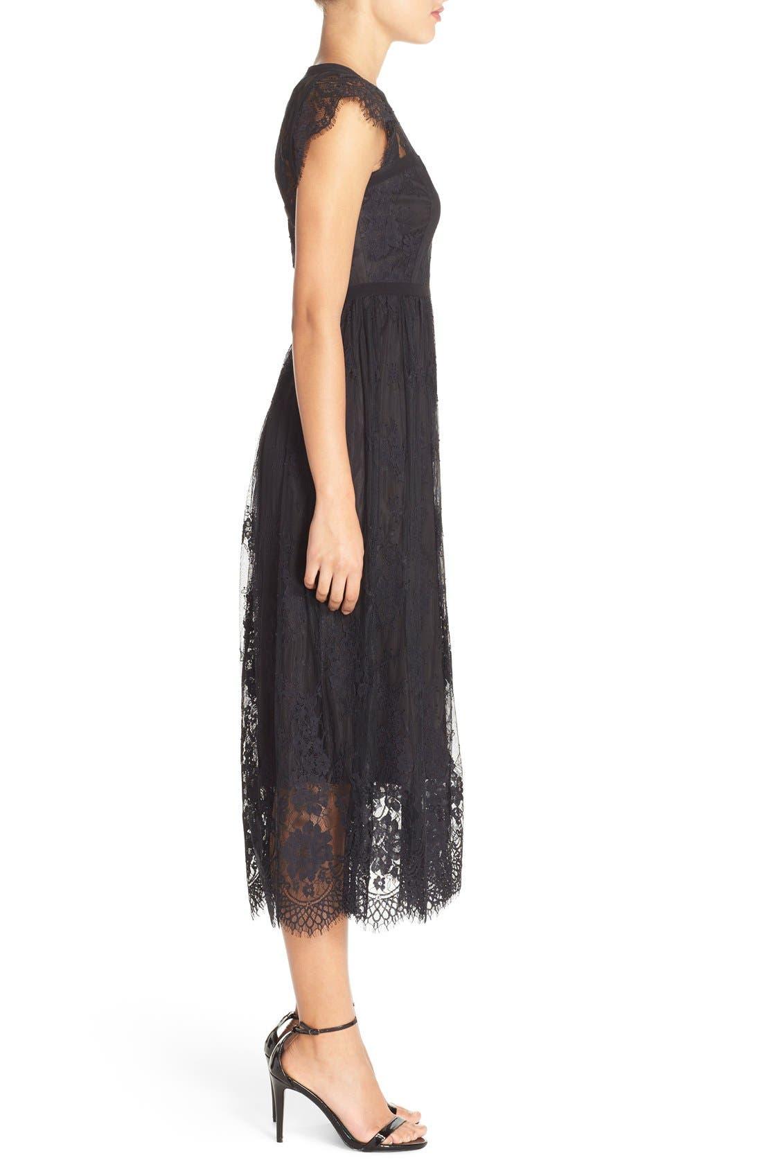 Alternate Image 3  - Parker 'Tesoro' Lace Fit & Flare Midi Dress