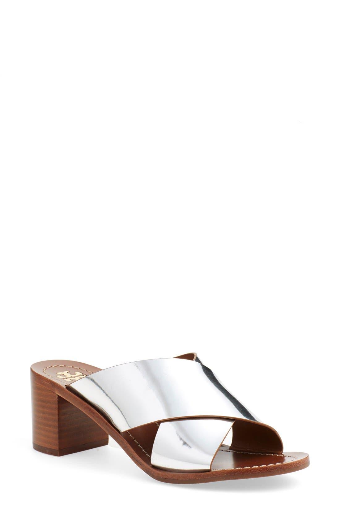'Montrose' Sandal,                             Main thumbnail 1, color,                             Silver Dress Mirror