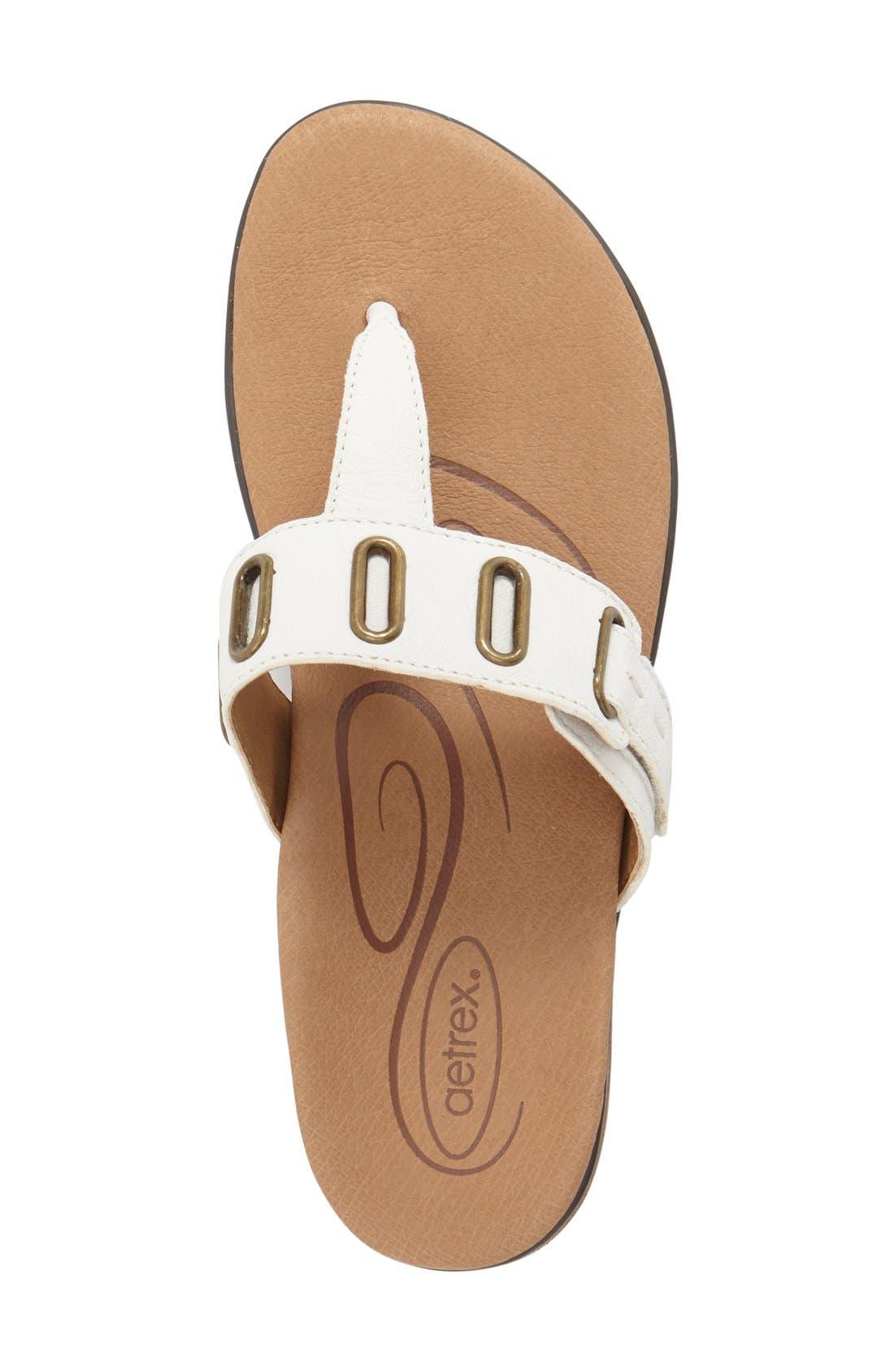 Alternate Image 3  - Aetrex 'Zara' Flip Flop (Women)