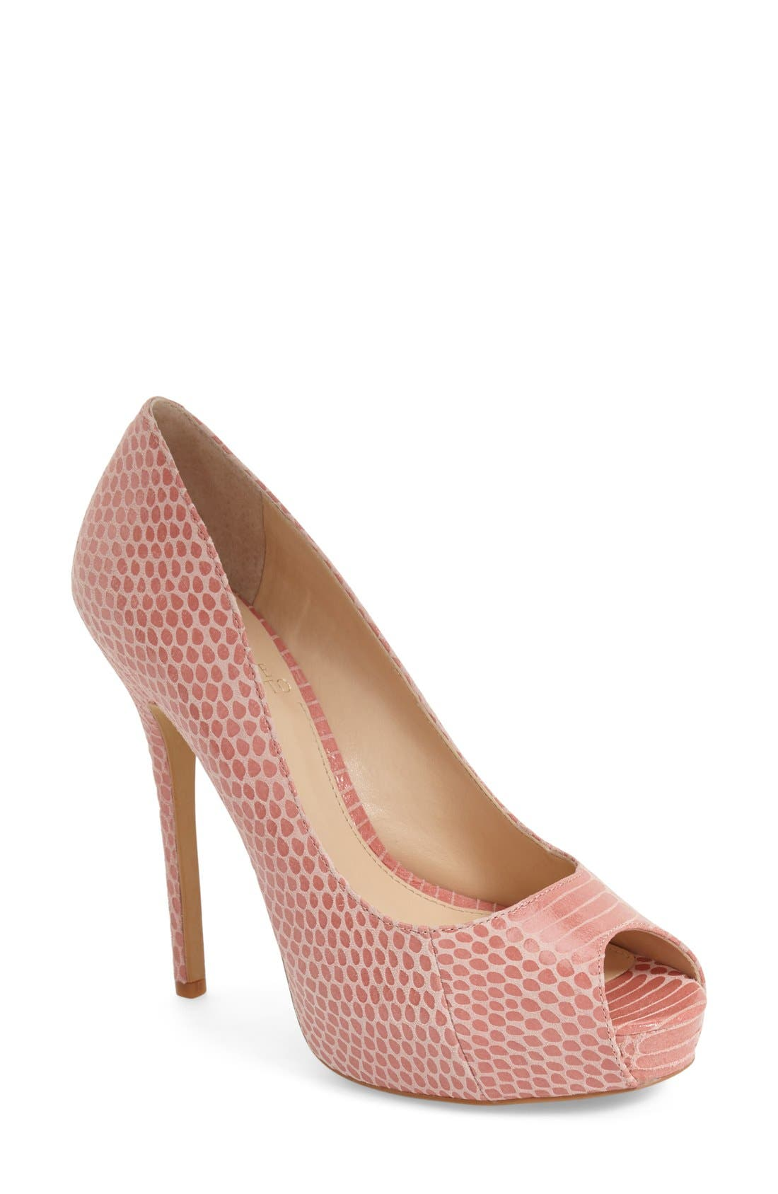 Alternate Image 1 Selected - Vince Camuto 'Lormina' Peep Toe Pump (Women)
