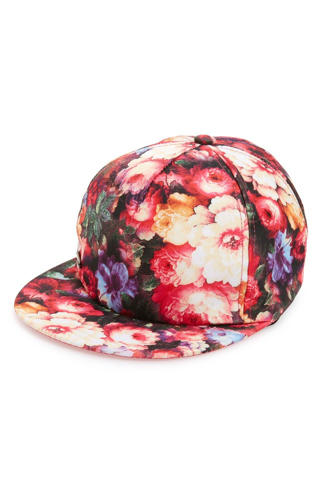 Alternate Image 1 Selected - Steve Madden Floral Print Snapback Baseball Cap