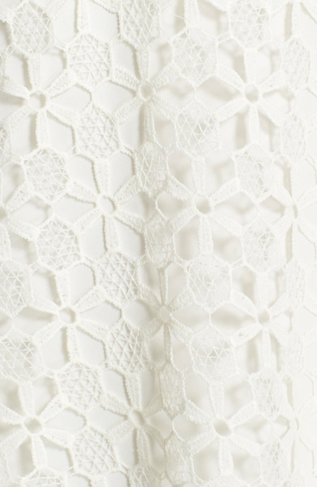 Floral Lace Trapeze Halter Dress,                             Alternate thumbnail 6, color,                             White Snow