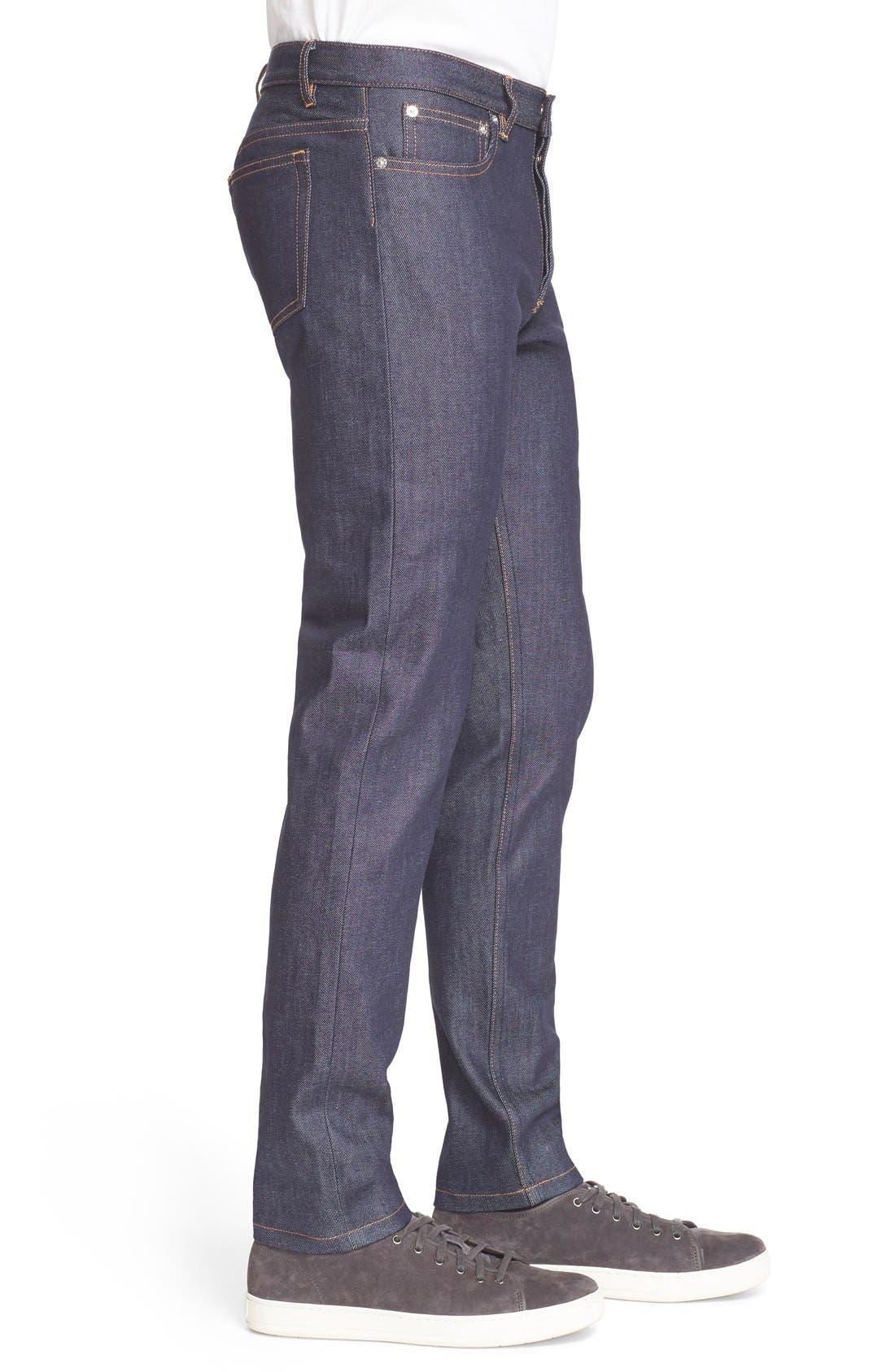 Alternate Image 3  - A.P.C. 'Petite New Standard' Skinny Fit Jeans (Indigo)