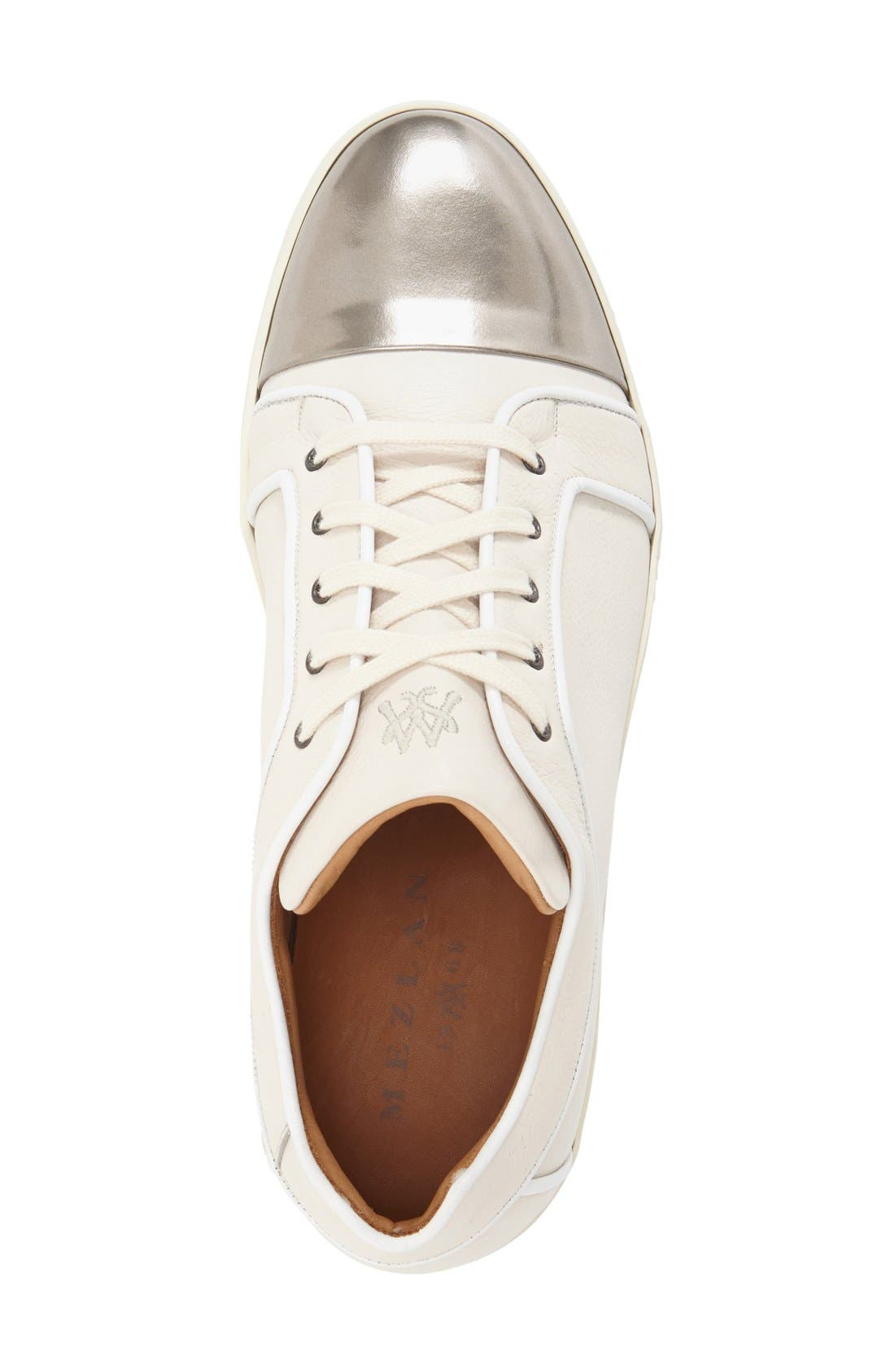 'Valeri' Sneaker,                             Alternate thumbnail 3, color,                             Silver/ White Calfskin