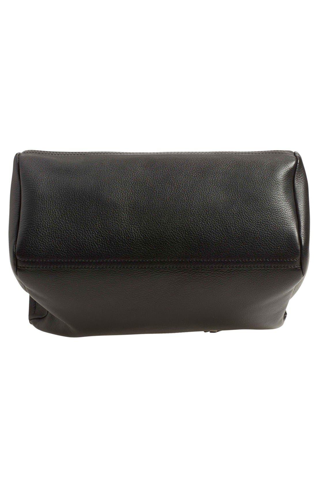 'Medium Pandora' Sugar Leather Satchel,                             Alternate thumbnail 6, color,                             Black
