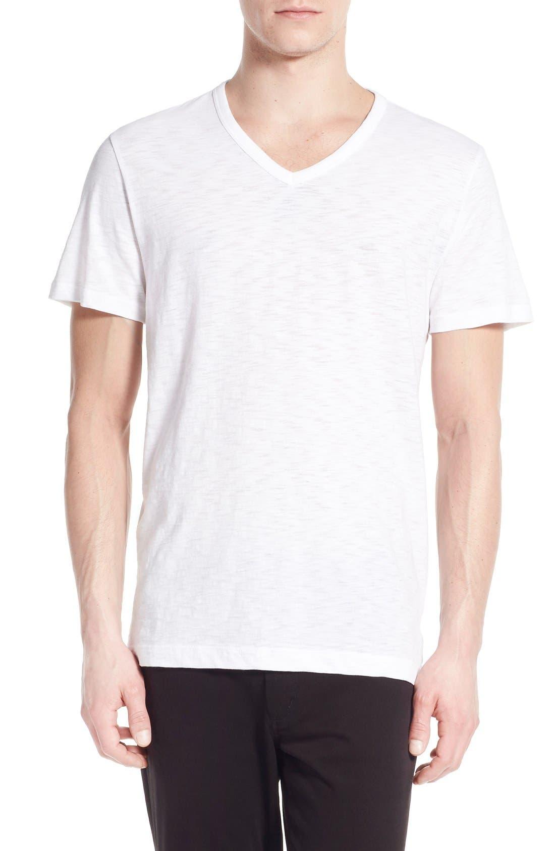 Alternate Image 1 Selected - Vince Slub V-Neck T-Shirt