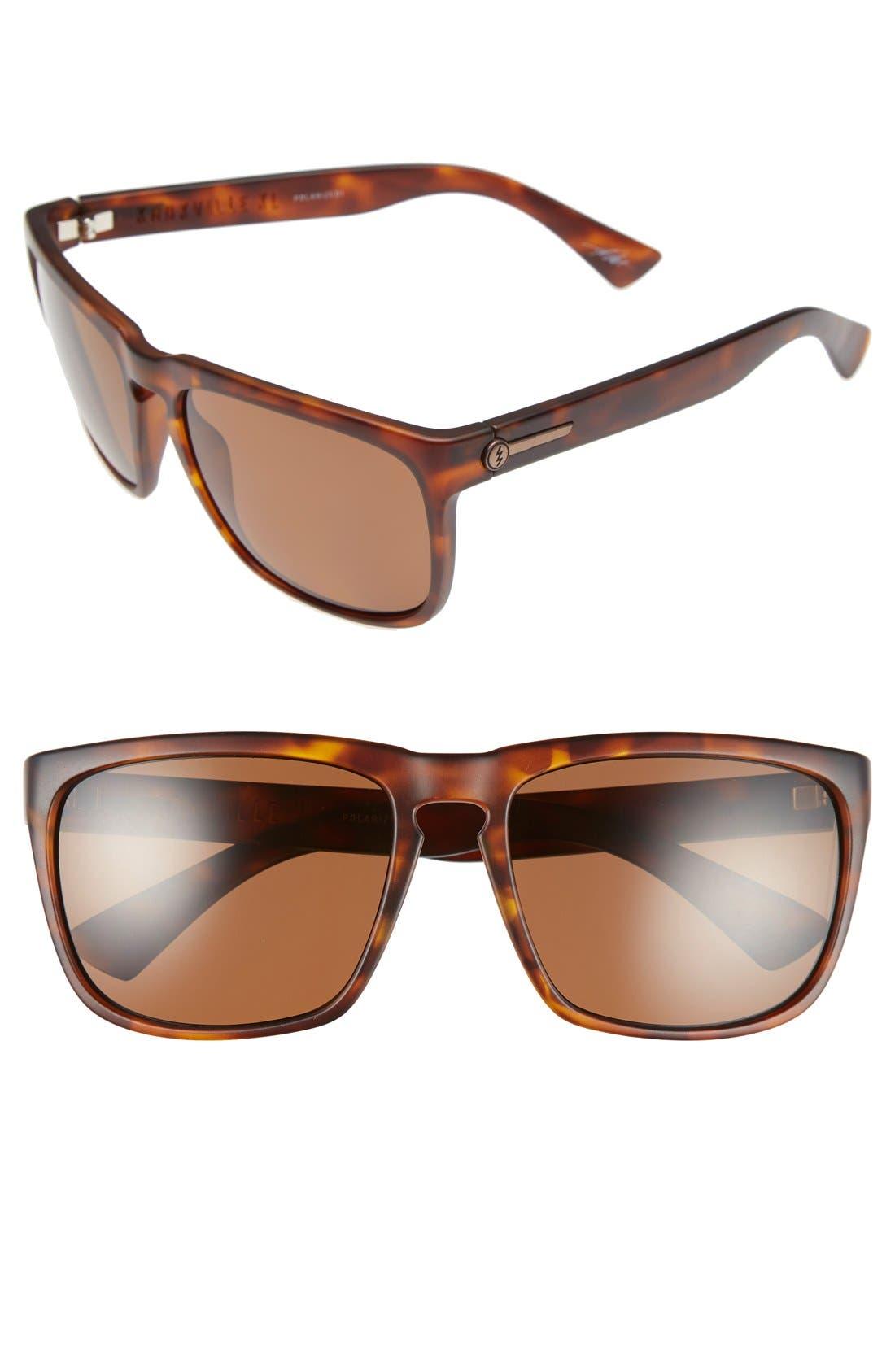 'Knoxville XL' 61mm Polarized Sunglasses,                         Main,                         color, Matte Tort/ Bronze Polar