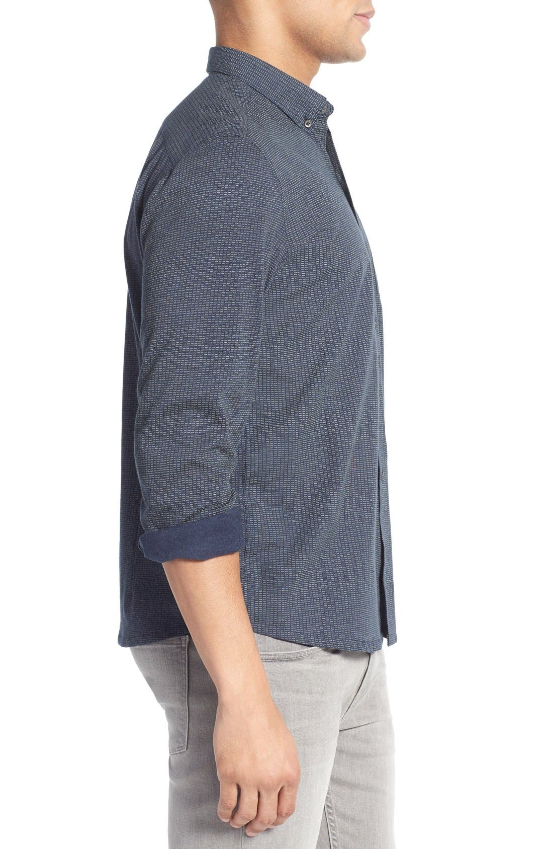 Alternate Image 3  - W.R.K Slim Fit Dot Print Sport Shirt