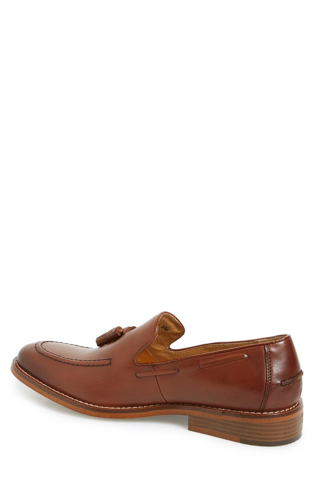 'Cooper' Tassel Loafer,                             Alternate thumbnail 2, color,                             Tan Leather