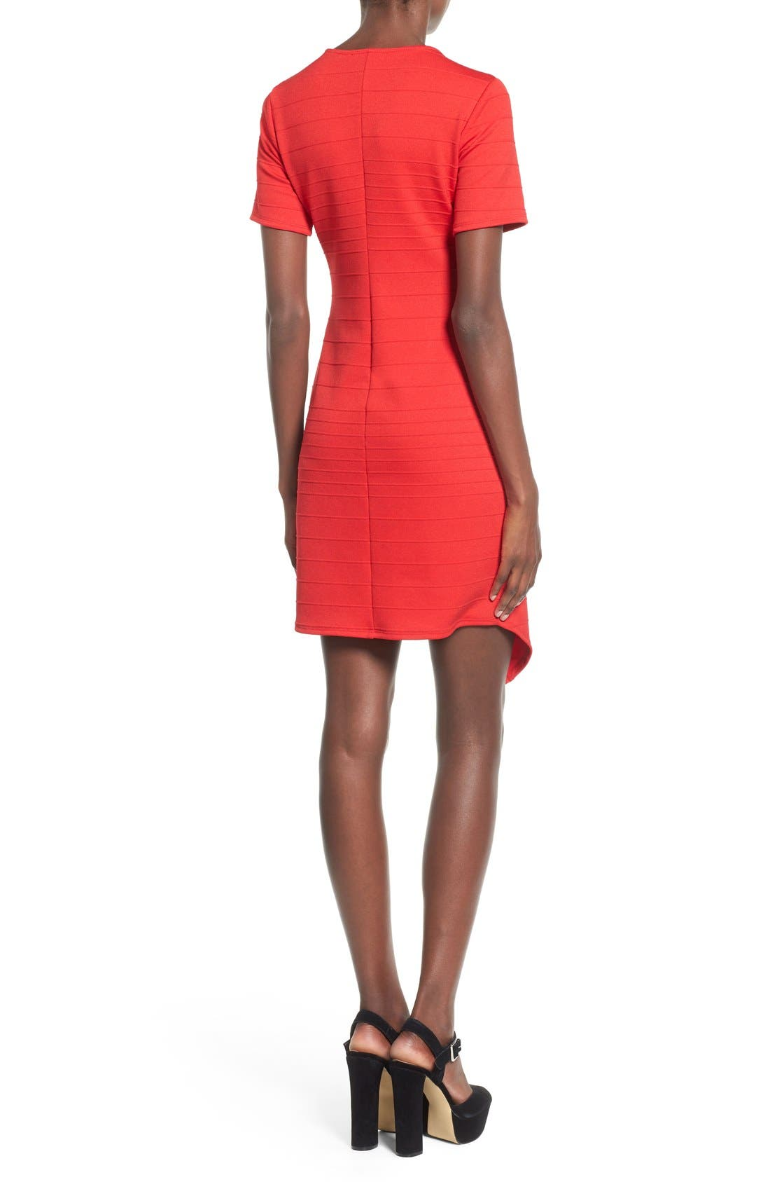 Alternate Image 2  - June & Hudson Short Sleeve Asymmetrical Wrap Front Dress