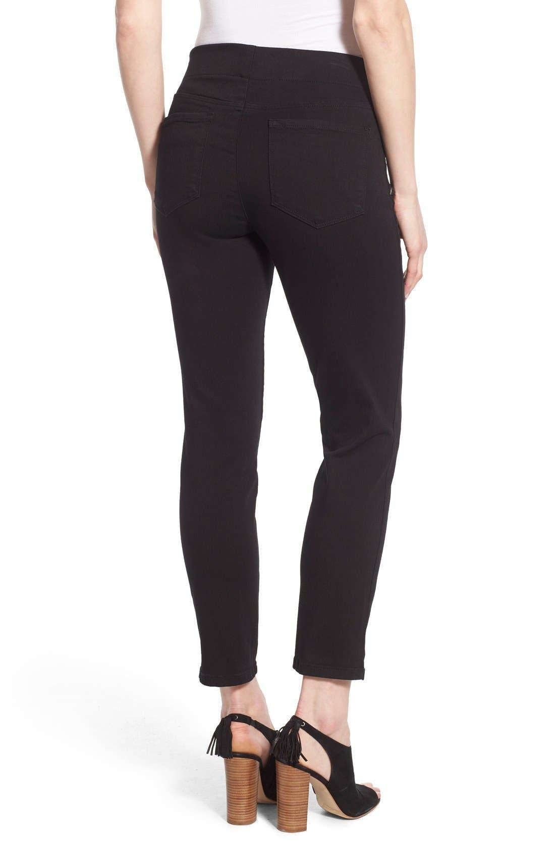 Alternate Image 2  - NYDJ Millie Pull-On Stretch Ankle Skinny Jeans (Regular & Petite)
