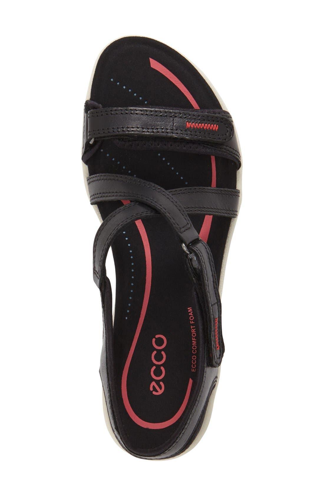 'Bluma' Sport Sandal,                             Alternate thumbnail 3, color,                             Black Leather