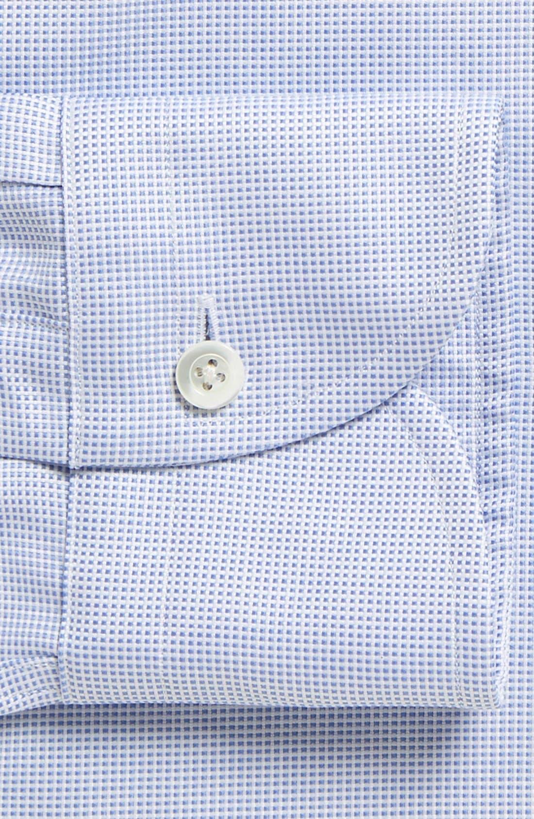 Classic Fit Check Dress Shirt,                             Alternate thumbnail 2, color,                             Blue