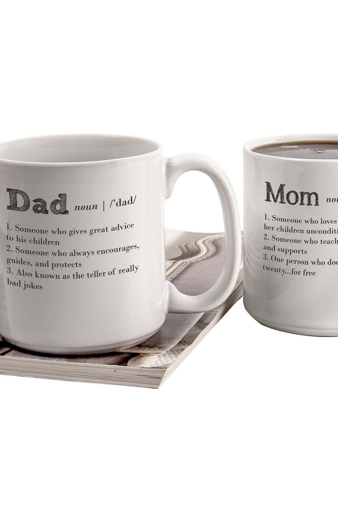 Alternate Image 3  - Cathy's Concepts 'Mom & Dad' Coffee Mugs (Set of 2)