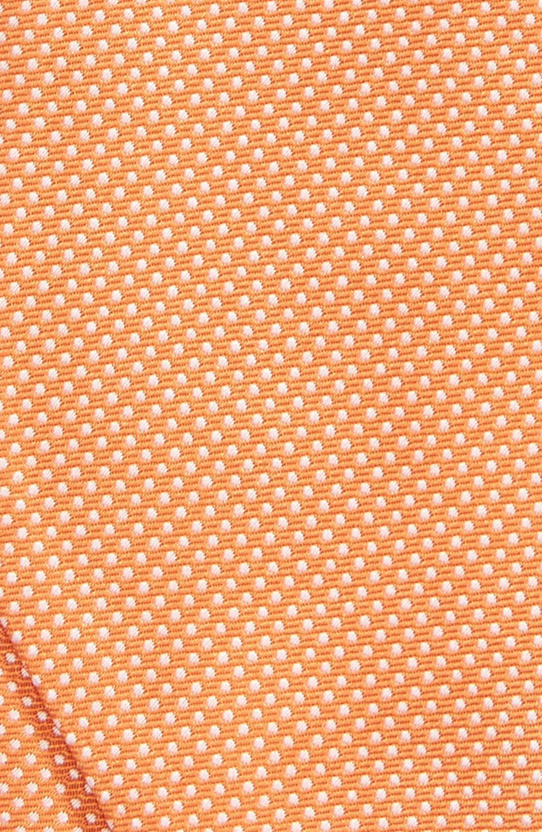 Dot Silk Bow Tie,                             Alternate thumbnail 3, color,                             Orange