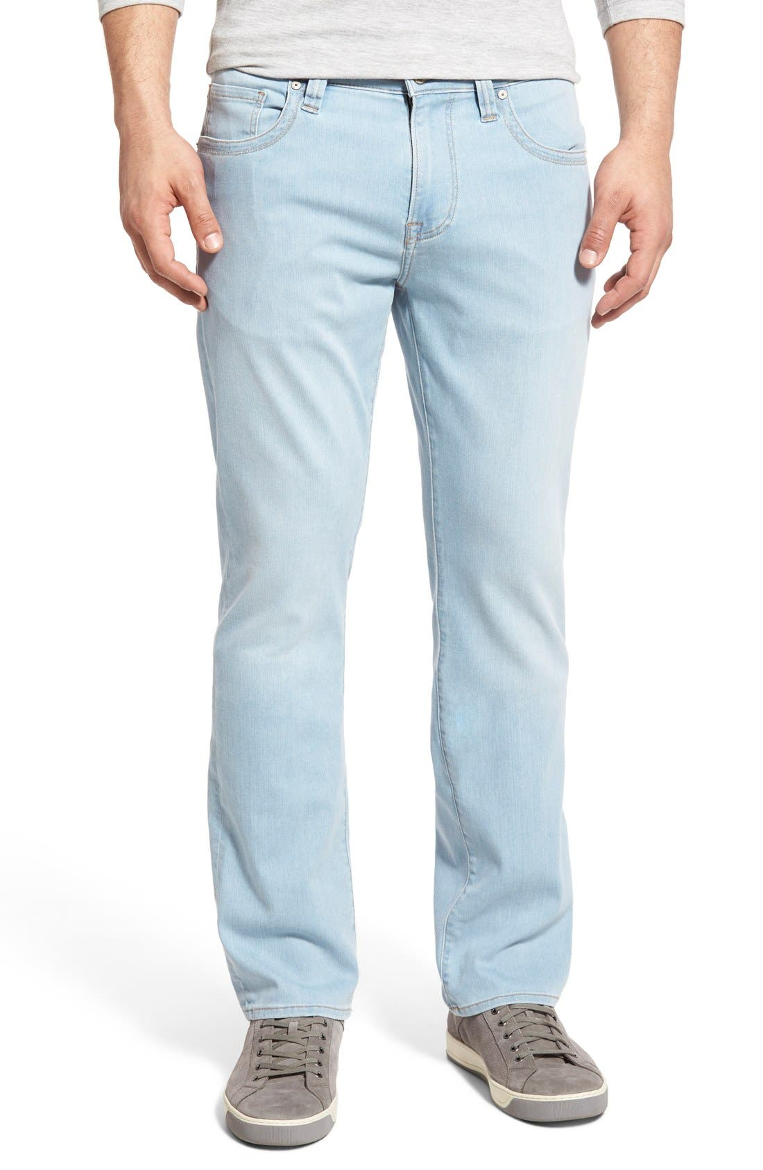 34 Heritage 'Charisma' Relaxed Fit Jeans (Bleach Hawaii) (Regular & Tall)