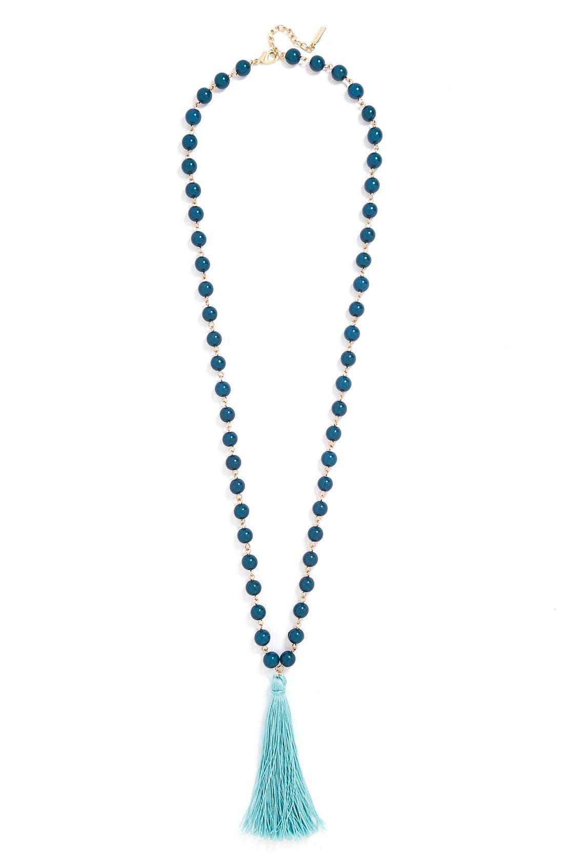 Alternate Image 2  - BaubleBar 'Bali' Tassel Pendant Necklace