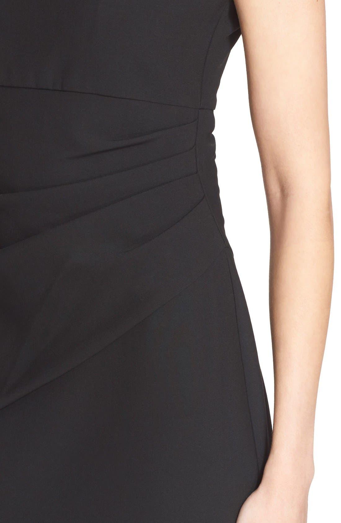 'Bevin' Sheath Dress,                             Alternate thumbnail 4, color,                             Black
