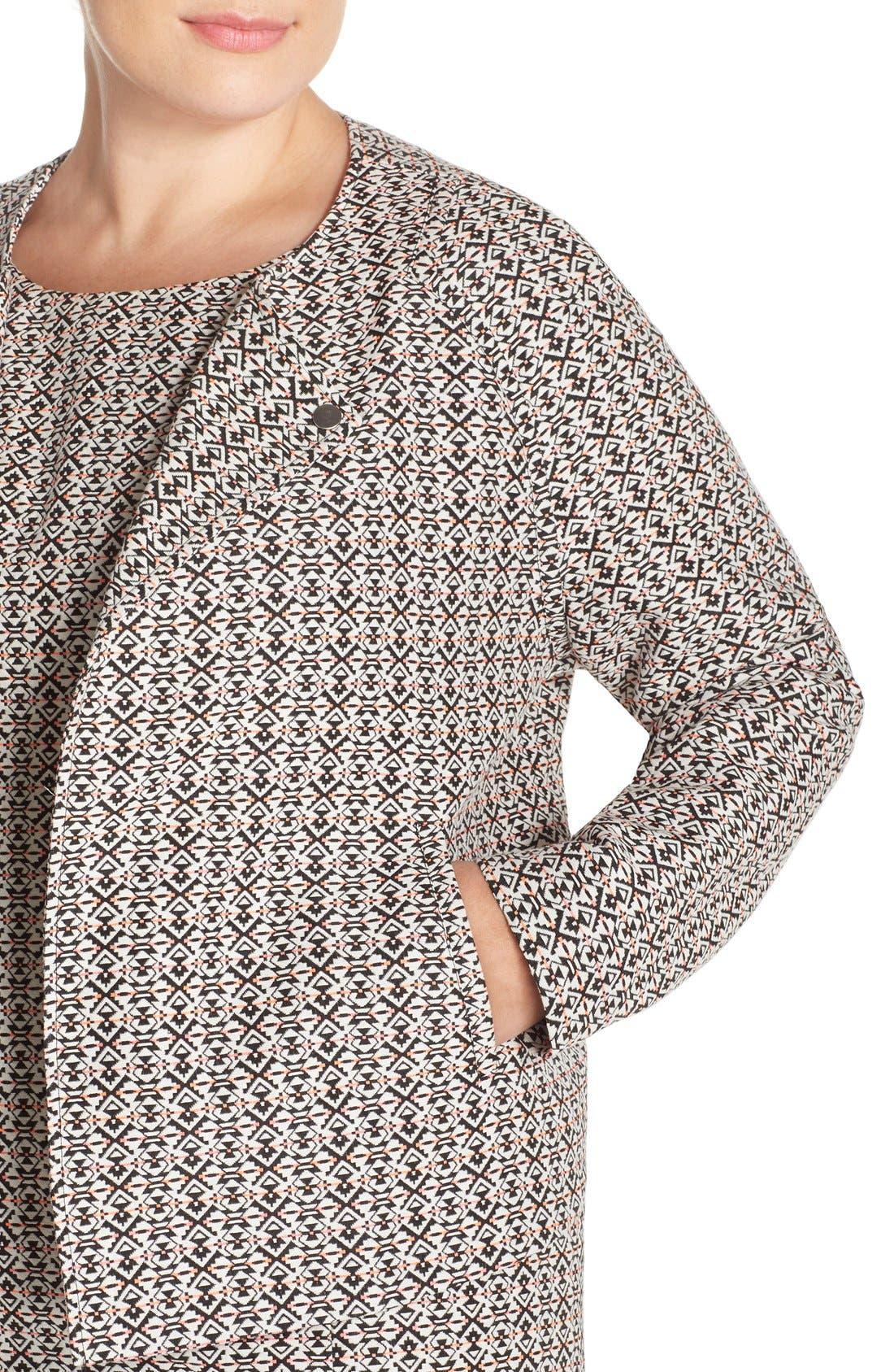 Alternate Image 4  - Tart 'Aviana' Print Collarless Jacket (Plus Size)