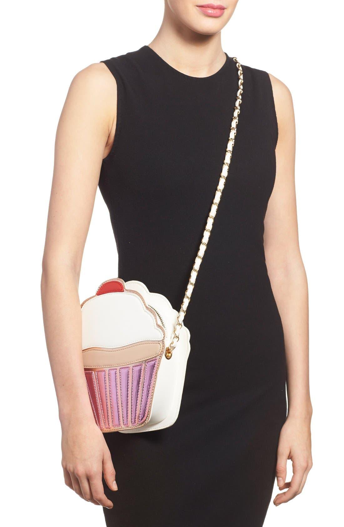 Alternate Image 2  - Nila Anthony 'Cupcake' Faux Leather Crossbody Bag