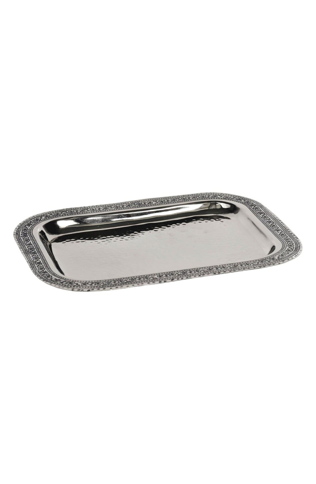 'Taxila' Tray,                             Main thumbnail 1, color,                             Silver