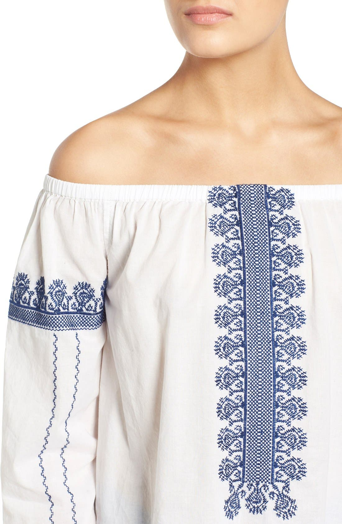 Alternate Image 4  - Madewell 'Folktale' Off the Shoulder Top