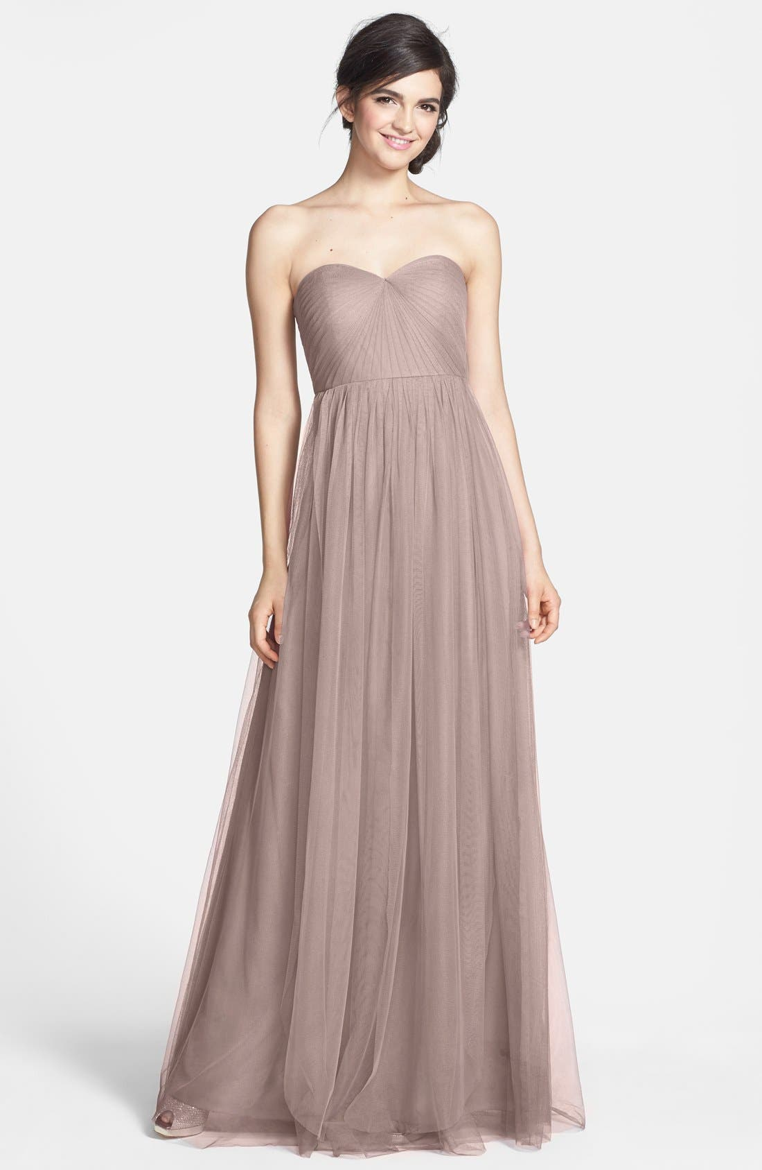 Alternate Image 1 Selected - Jenny Yoo Annabelle Convertible Tulle Column Dress